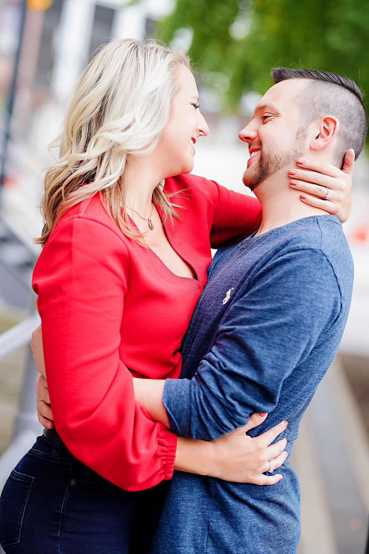 Kristen Jonny Indianapolis Downtown Engagement Session 029