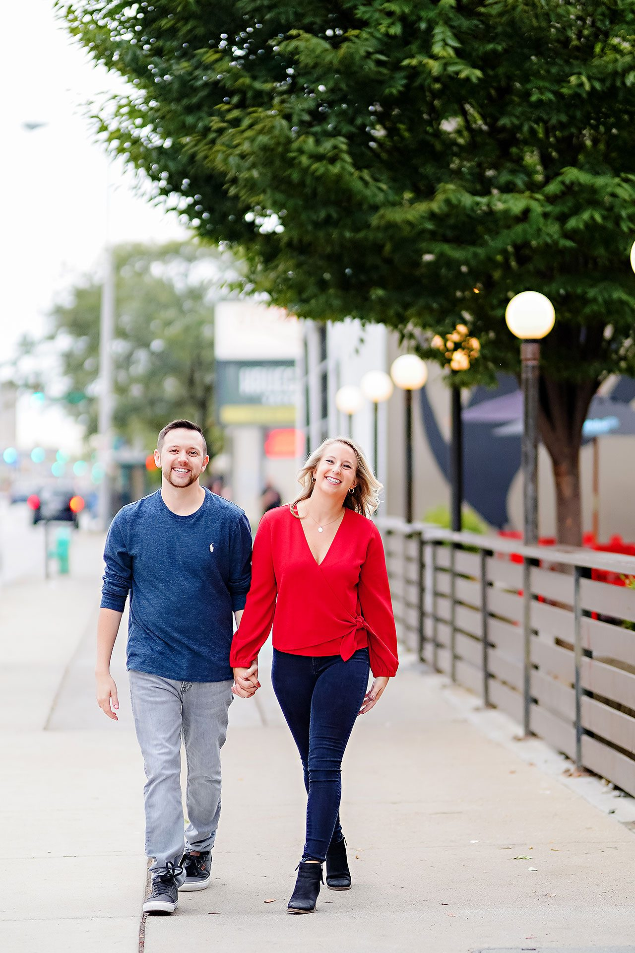 Kristen Jonny Indianapolis Downtown Engagement Session 030