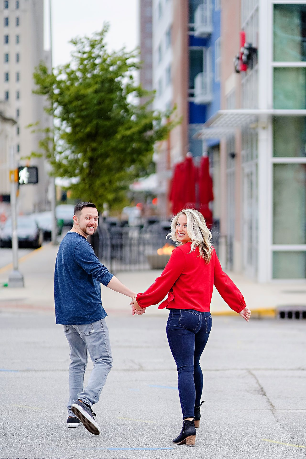 Kristen Jonny Indianapolis Downtown Engagement Session 033