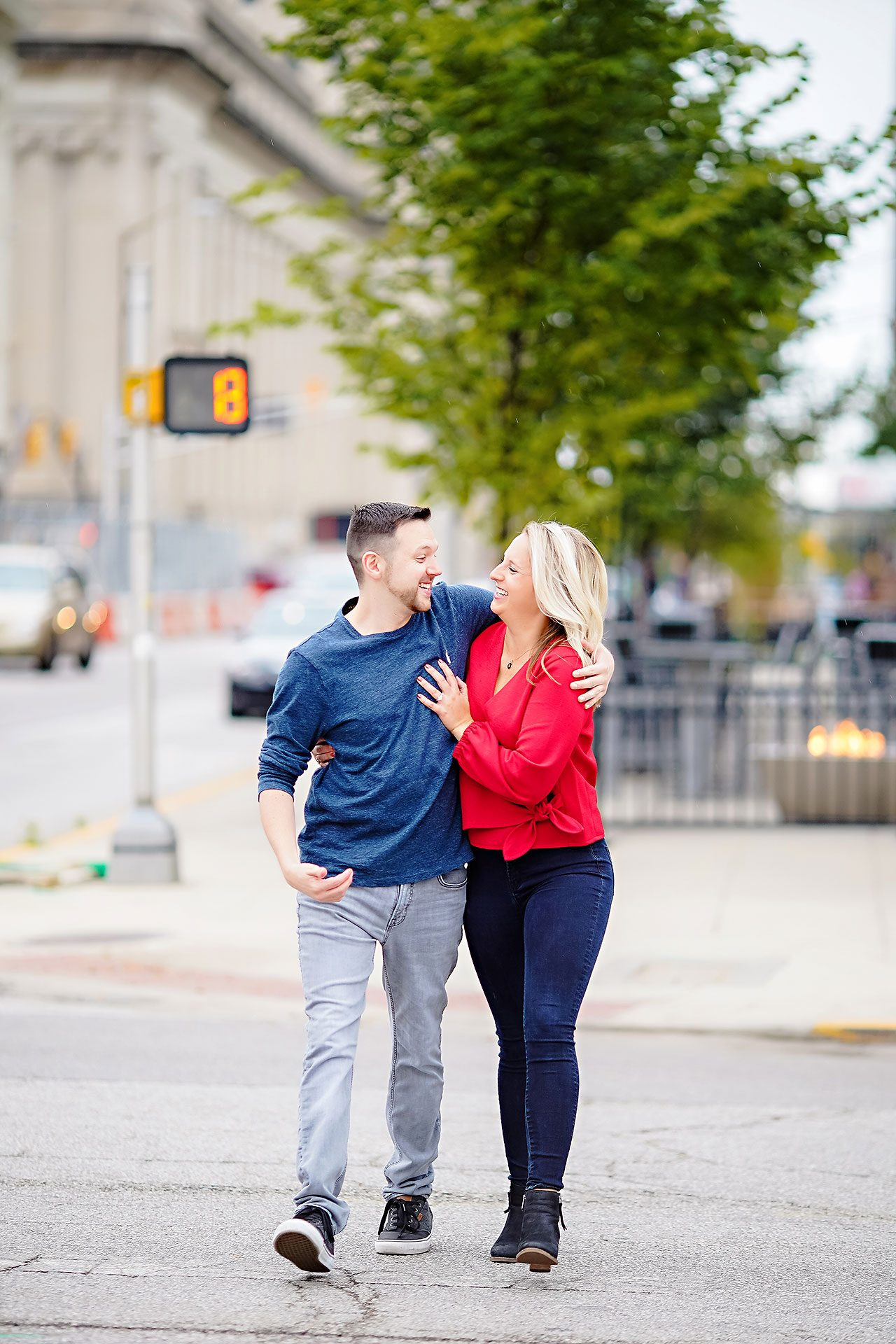 Kristen Jonny Indianapolis Downtown Engagement Session 040