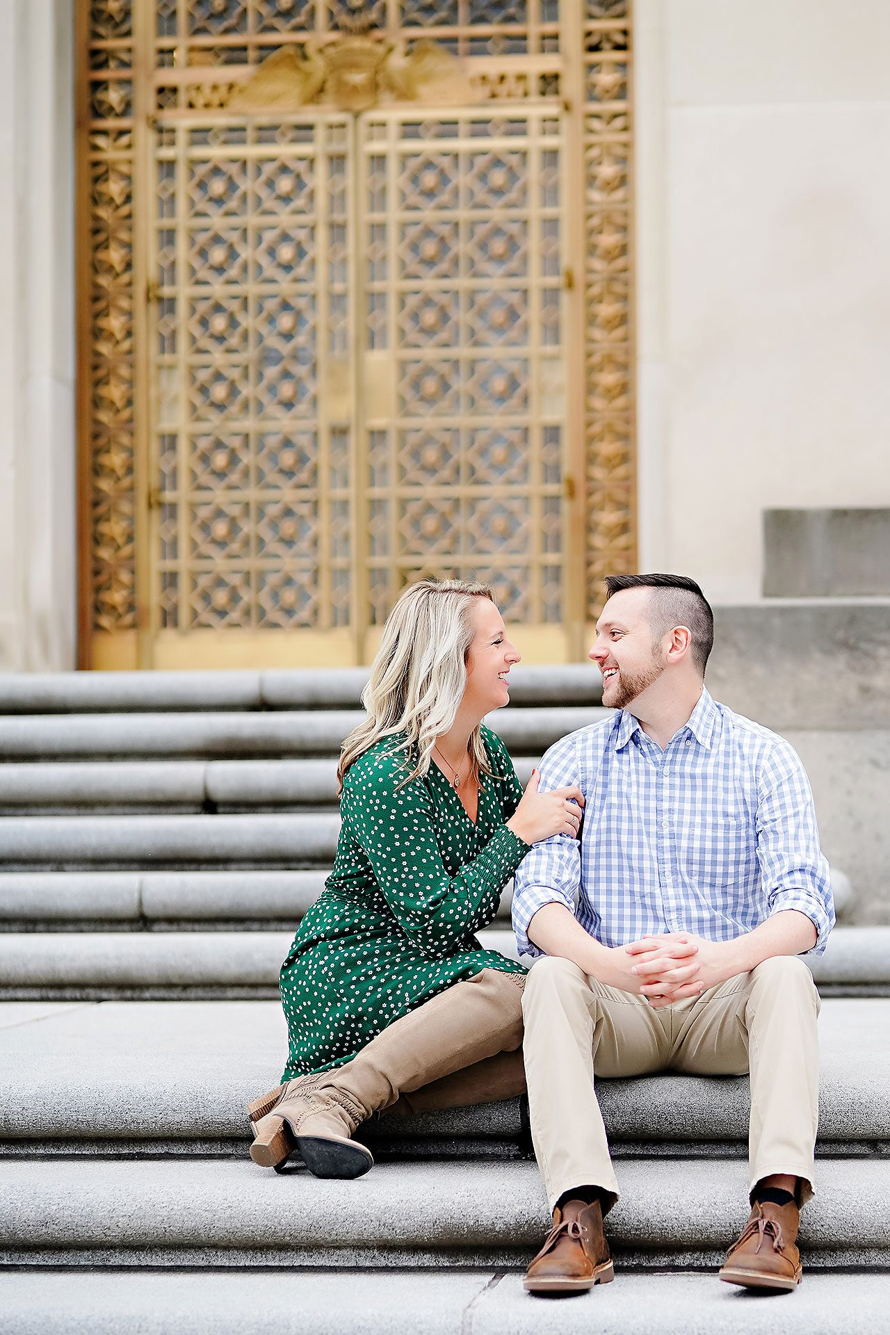 Kristen Jonny Indianapolis Downtown Engagement Session 047