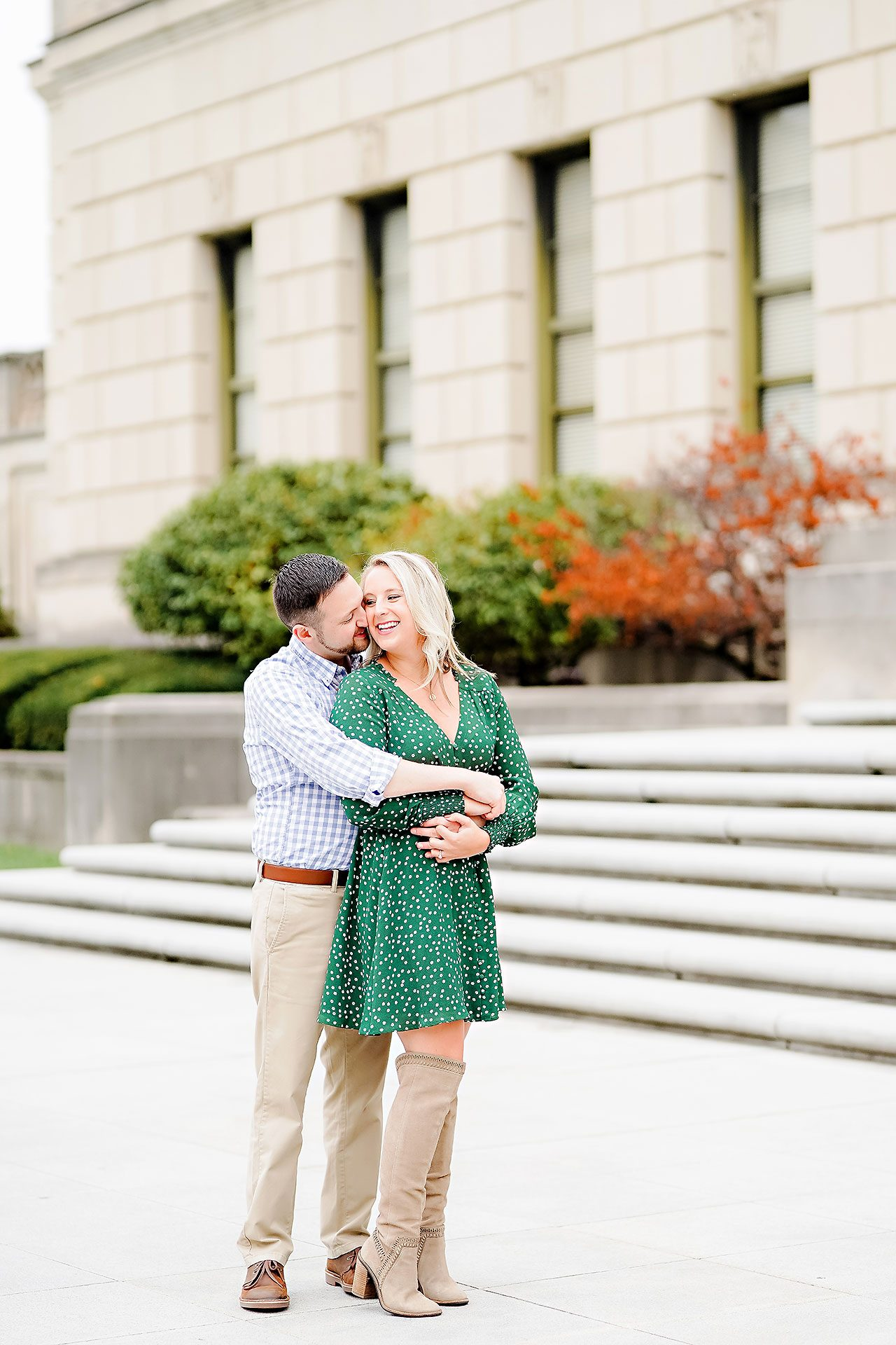 Kristen Jonny Indianapolis Downtown Engagement Session 048