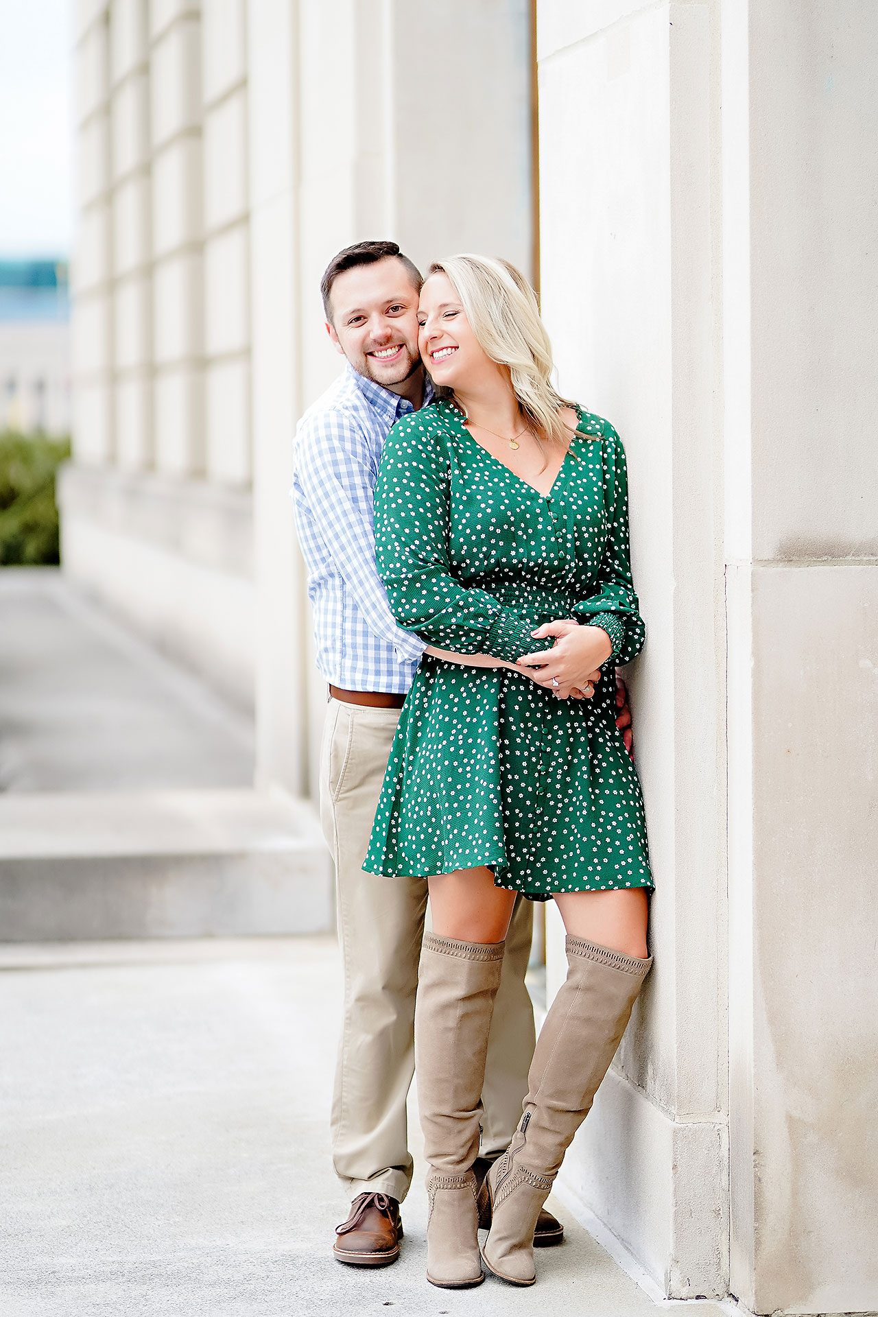 Kristen Jonny Indianapolis Downtown Engagement Session 049