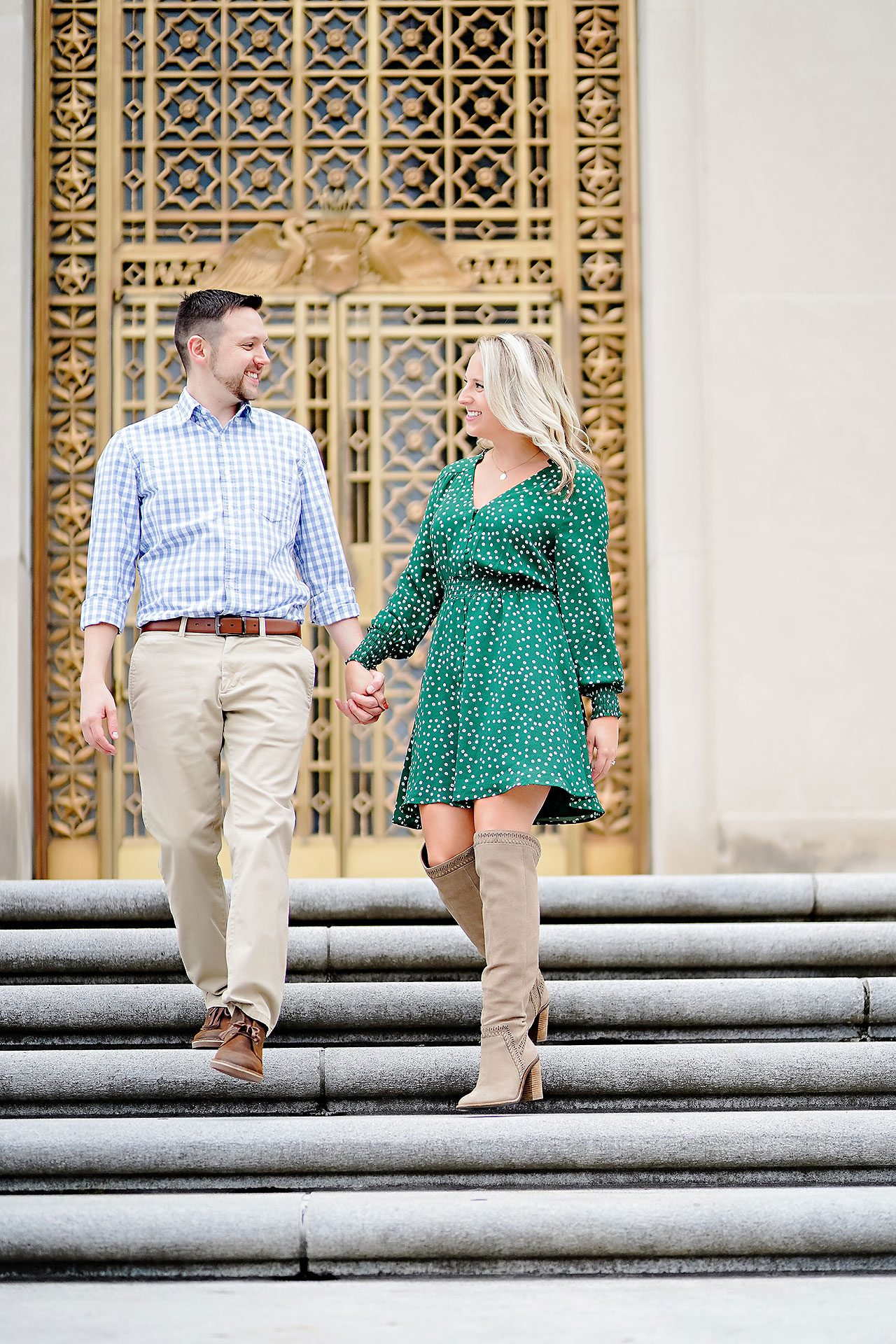 Kristen Jonny Indianapolis Downtown Engagement Session 050