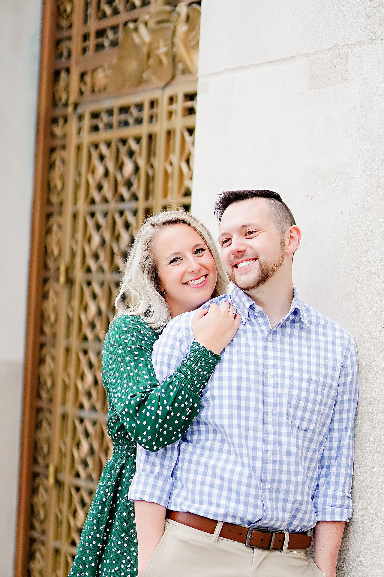 Kristen Jonny Indianapolis Downtown Engagement Session 051