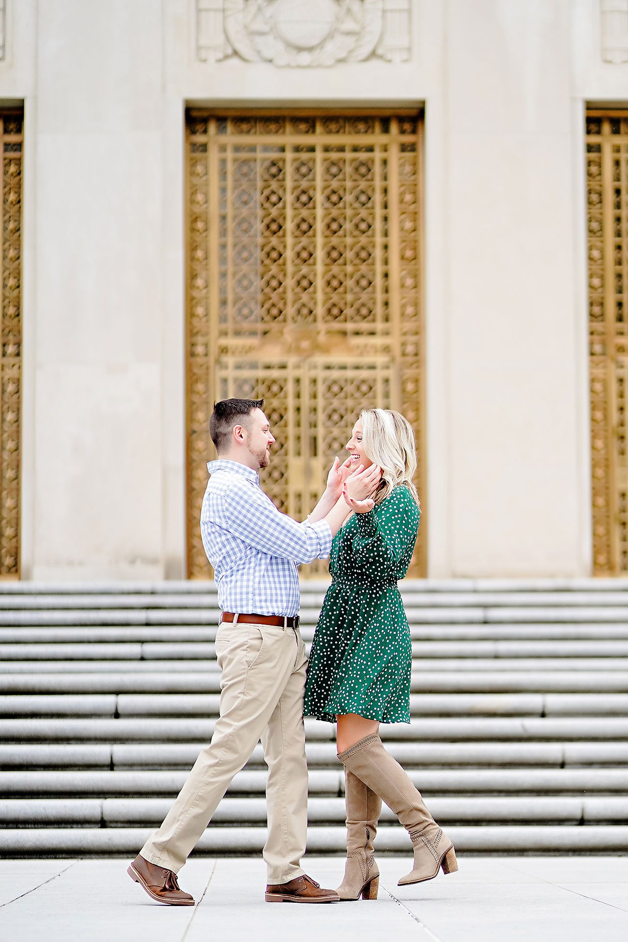 Kristen Jonny Indianapolis Downtown Engagement Session 052