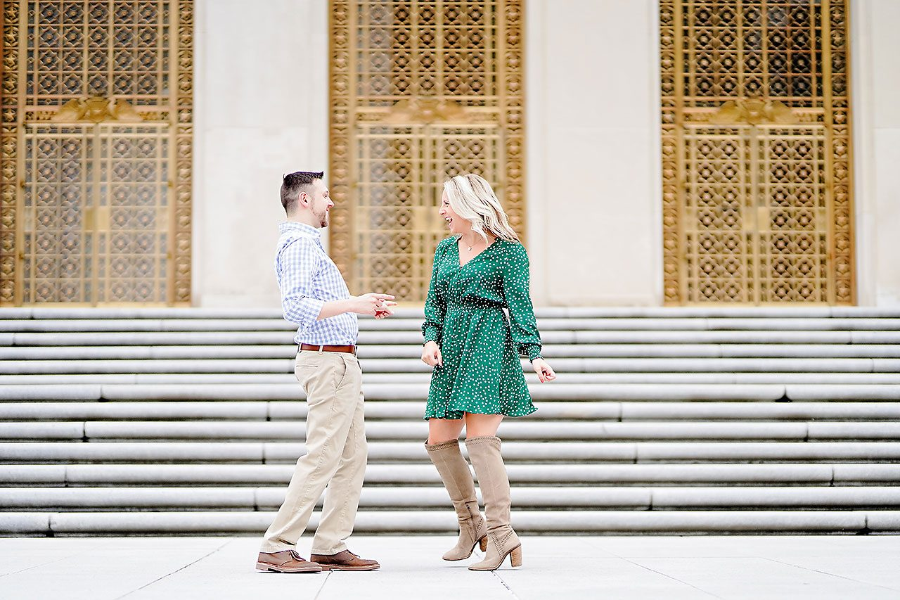 Kristen Jonny Indianapolis Downtown Engagement Session 055