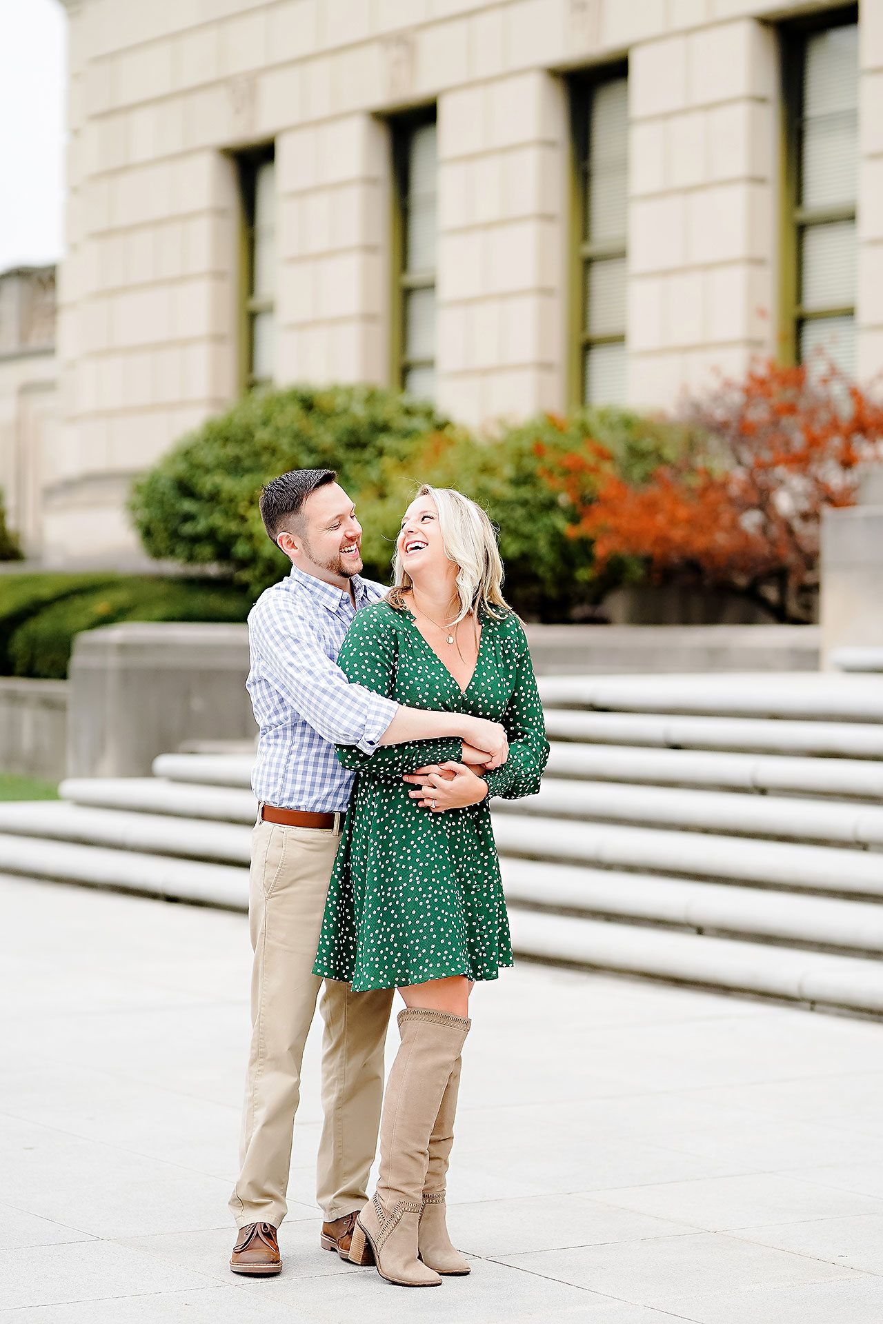 Kristen Jonny Indianapolis Downtown Engagement Session 058