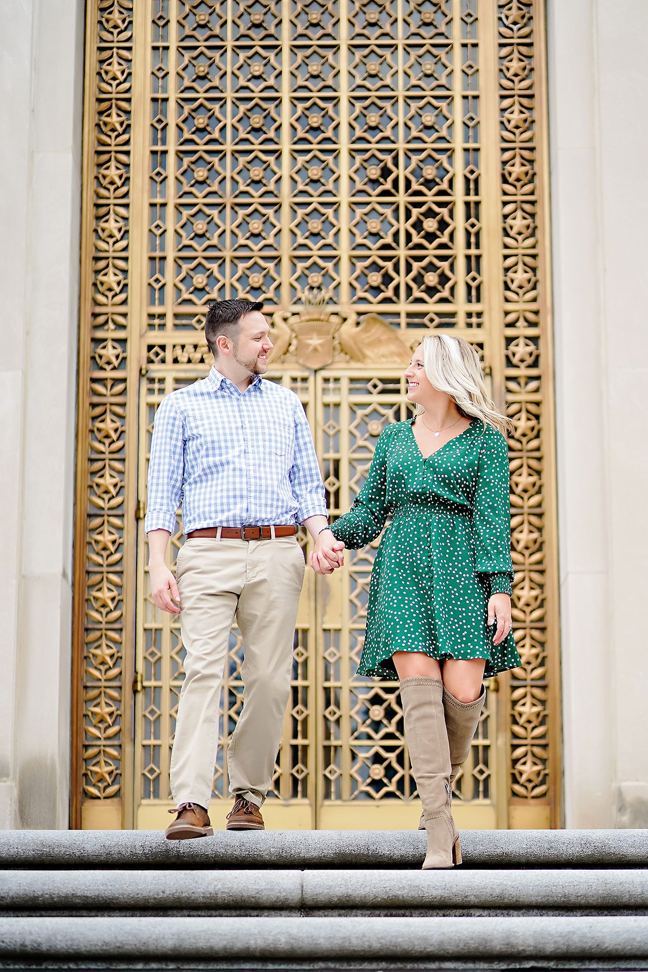 Kristen Jonny Indianapolis Downtown Engagement Session 061