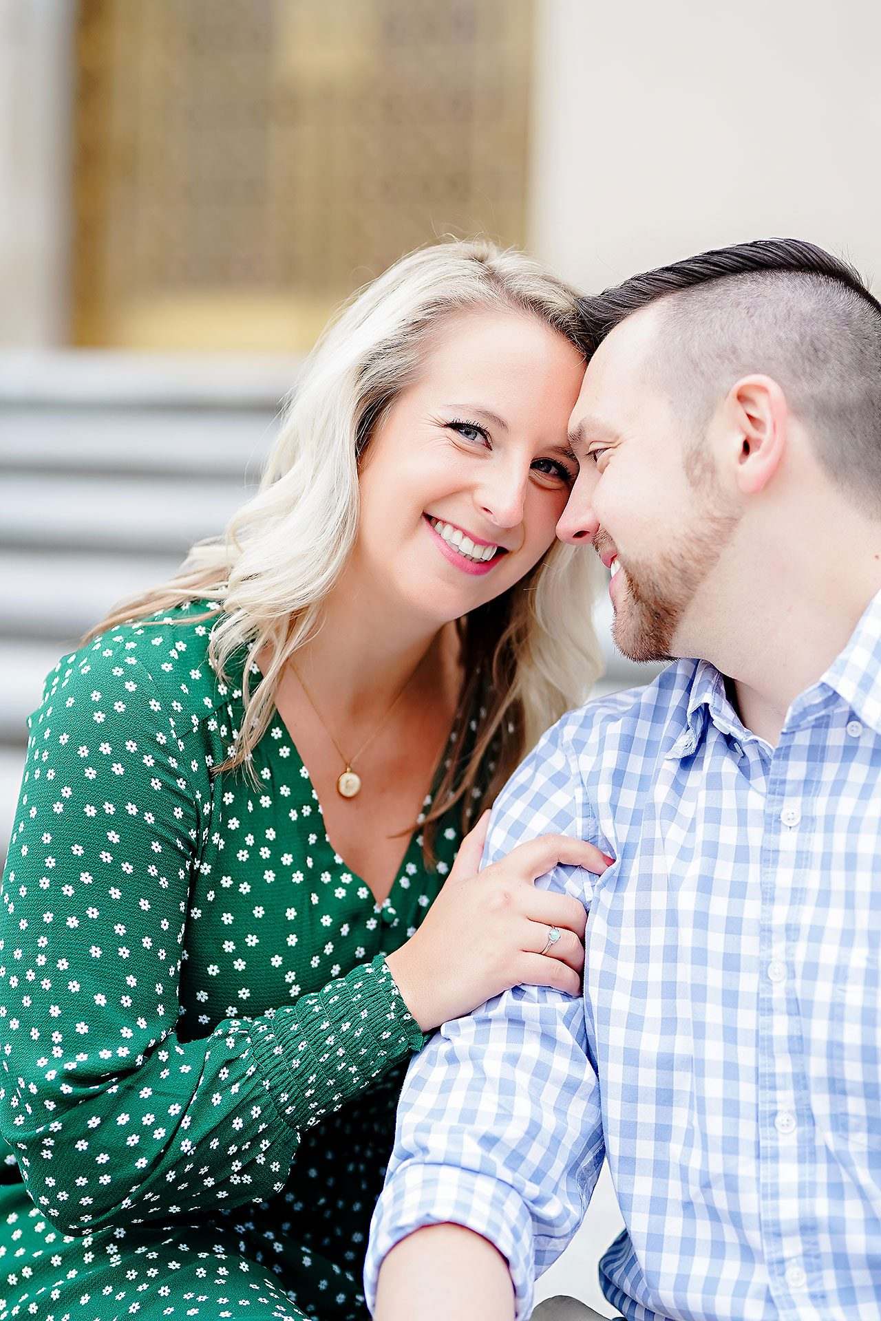 Kristen Jonny Indianapolis Downtown Engagement Session 063