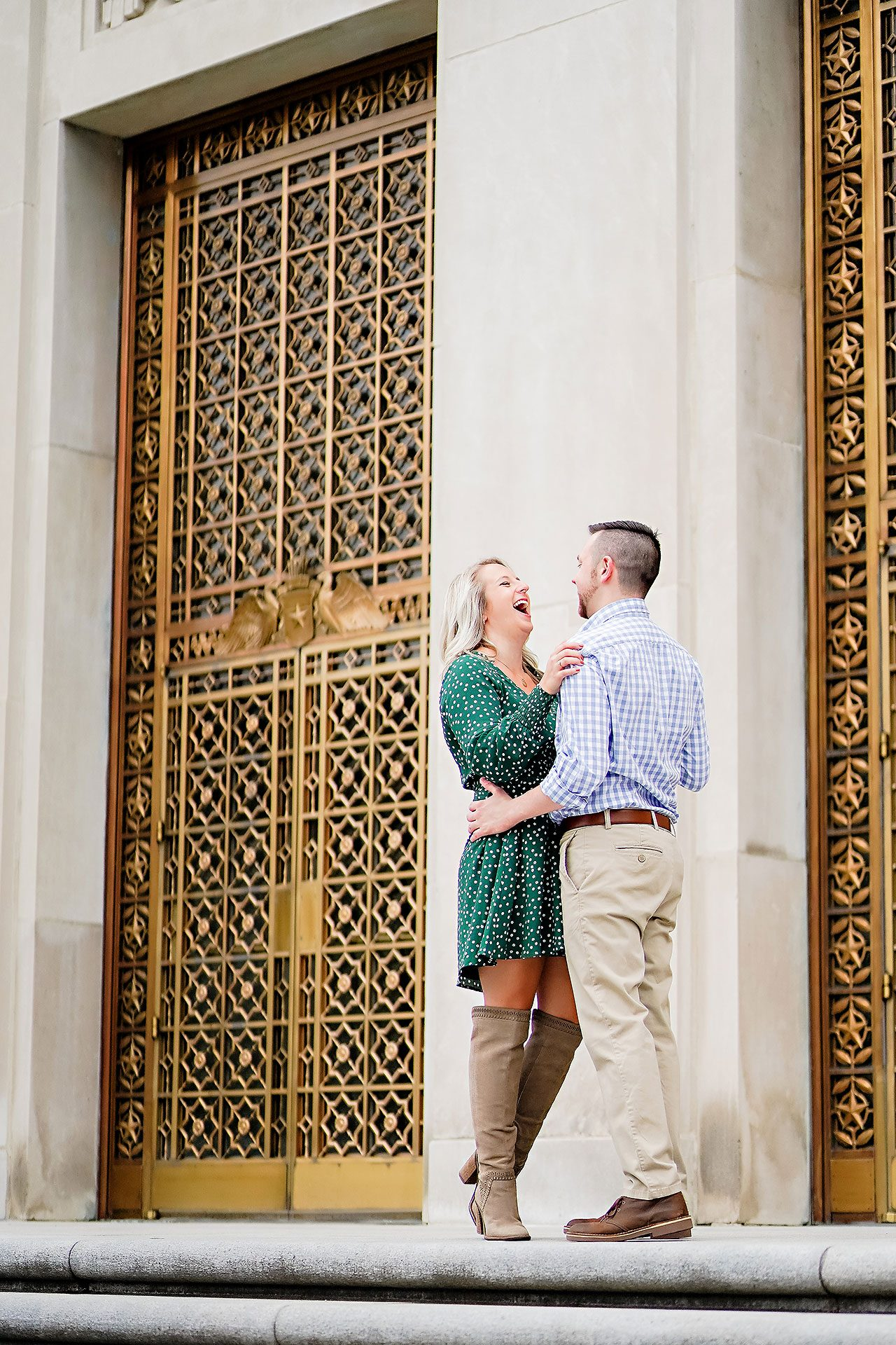 Kristen Jonny Indianapolis Downtown Engagement Session 065