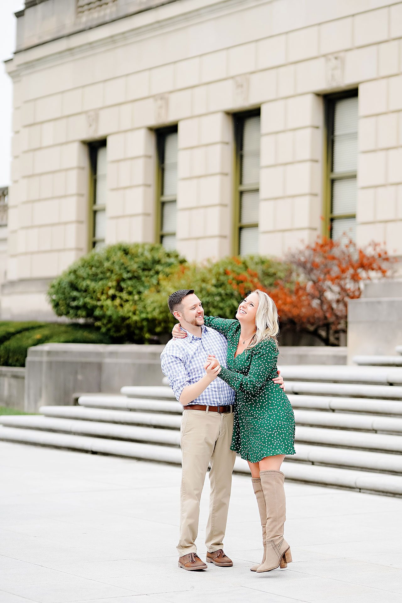 Kristen Jonny Indianapolis Downtown Engagement Session 067