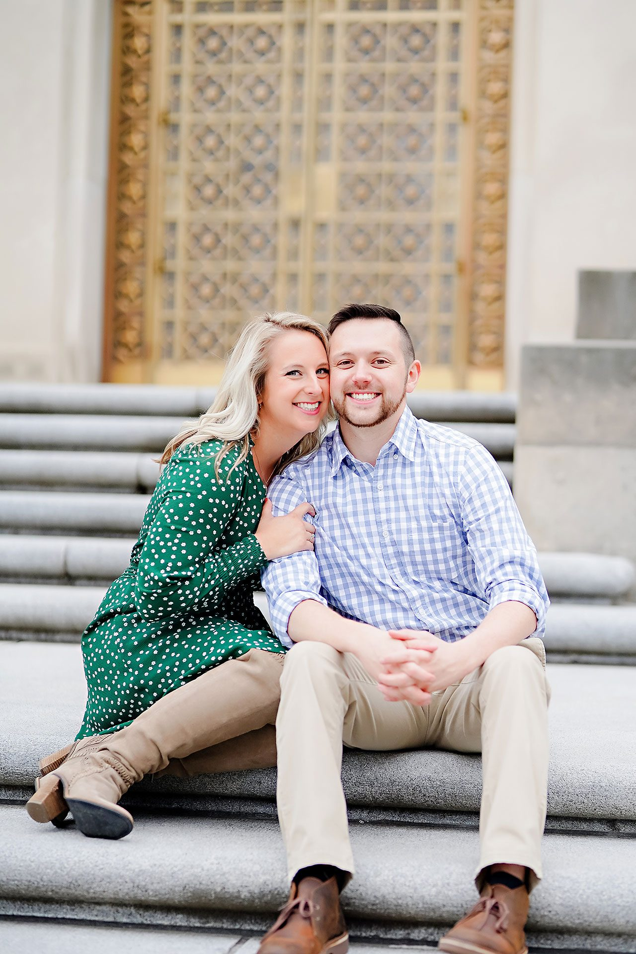 Kristen Jonny Indianapolis Downtown Engagement Session 068
