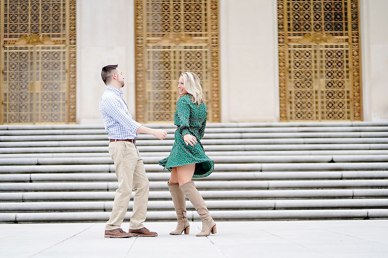 Kristen Jonny Indianapolis Downtown Engagement Session 070
