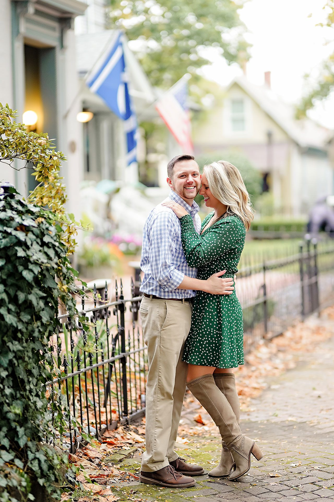 Kristen Jonny Indianapolis Downtown Engagement Session 074