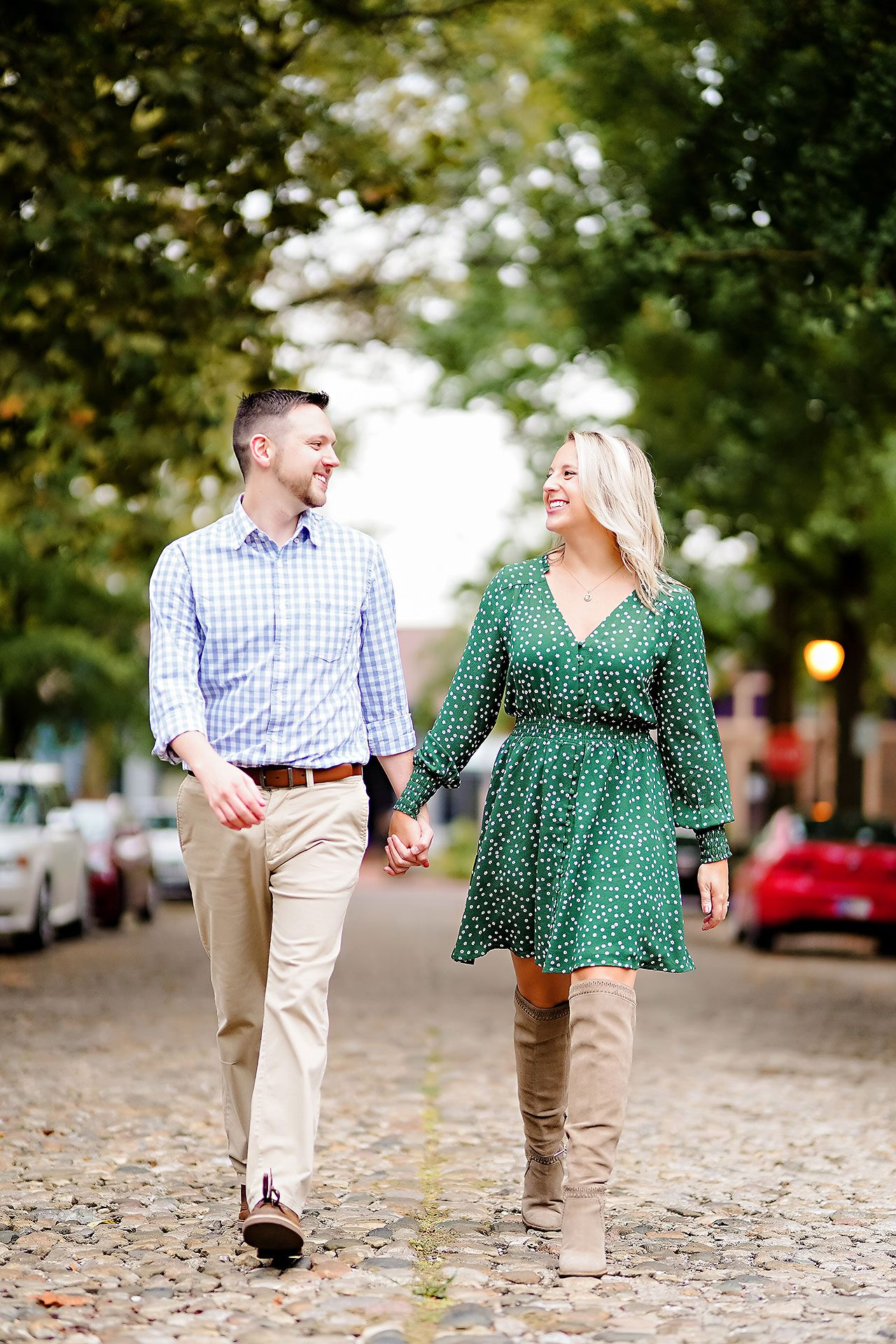 Kristen Jonny Indianapolis Downtown Engagement Session 077
