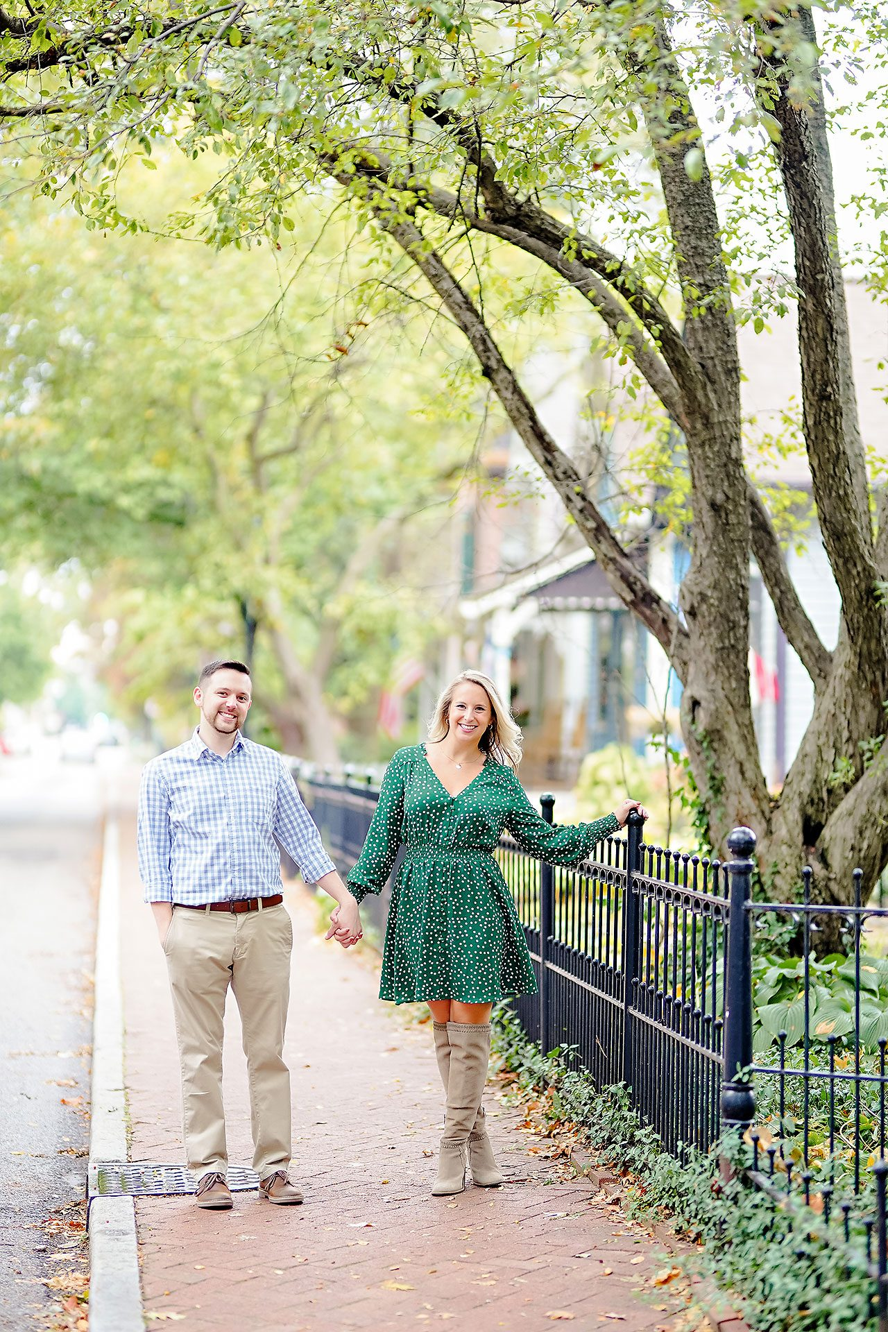 Kristen Jonny Indianapolis Downtown Engagement Session 081