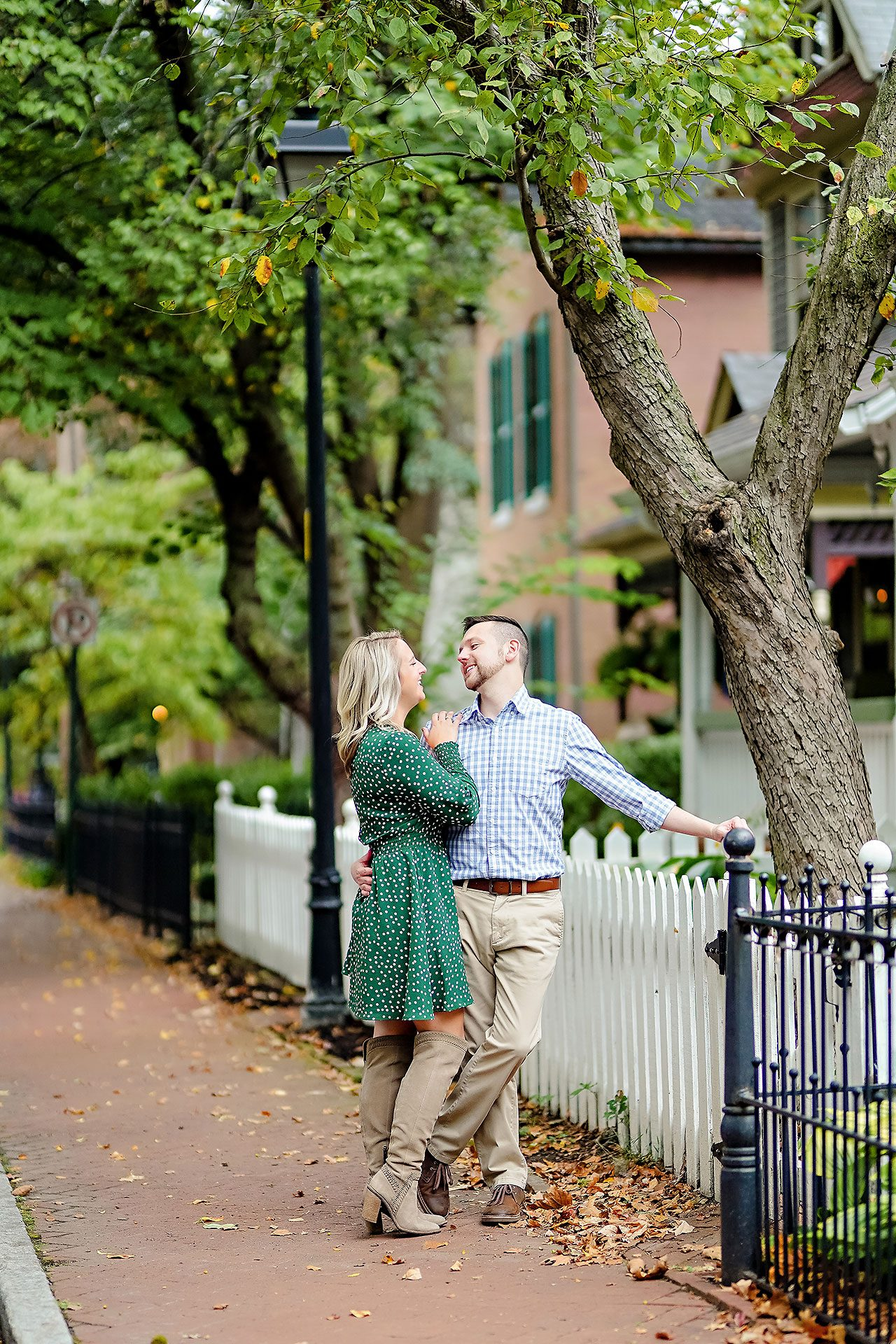 Kristen Jonny Indianapolis Downtown Engagement Session 089