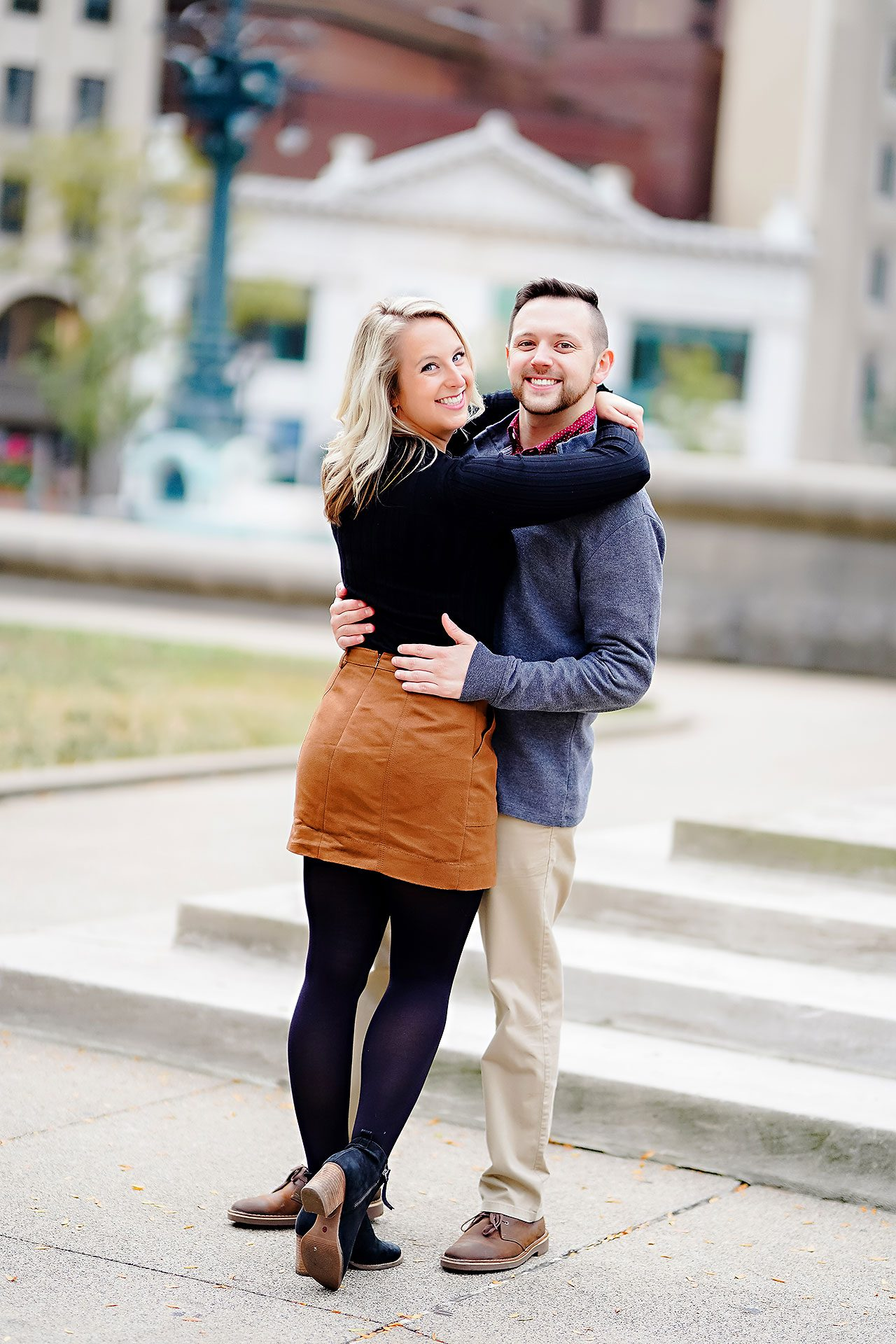 Kristen Jonny Indianapolis Downtown Engagement Session 092