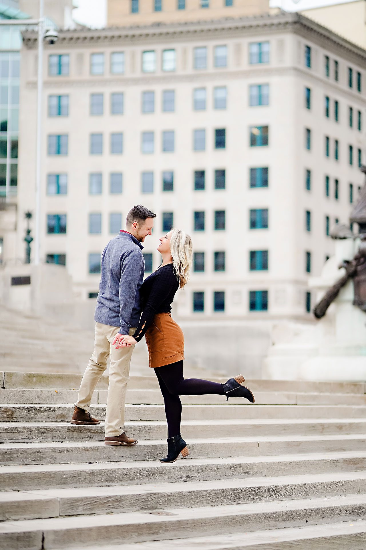 Kristen Jonny Indianapolis Downtown Engagement Session 093