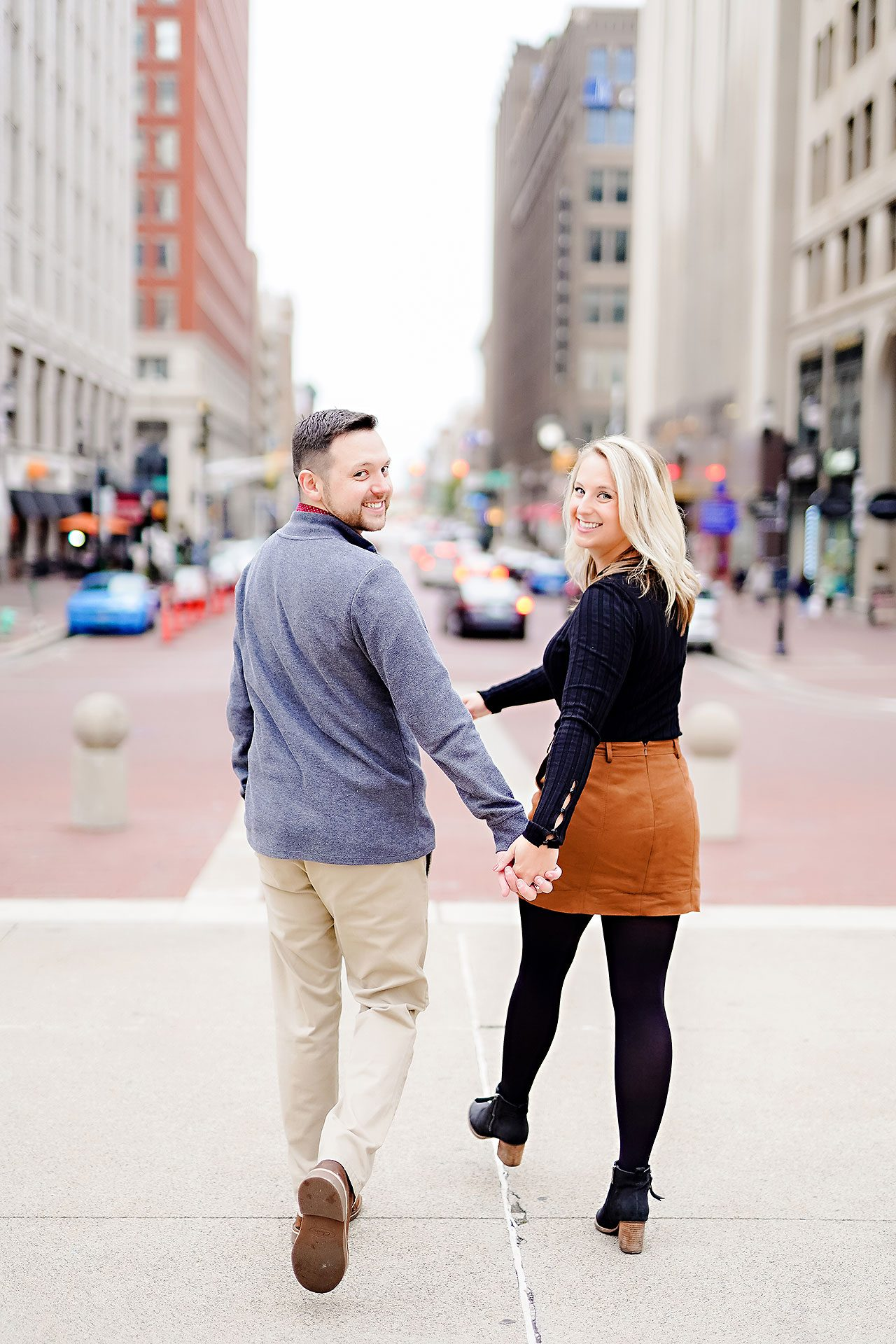 Kristen Jonny Indianapolis Downtown Engagement Session 095