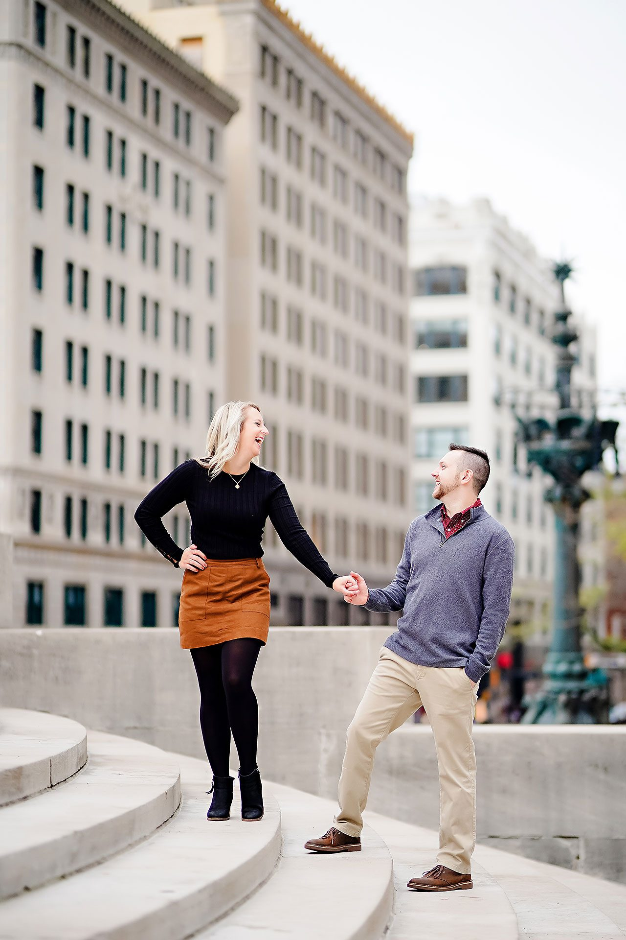 Kristen Jonny Indianapolis Downtown Engagement Session 096