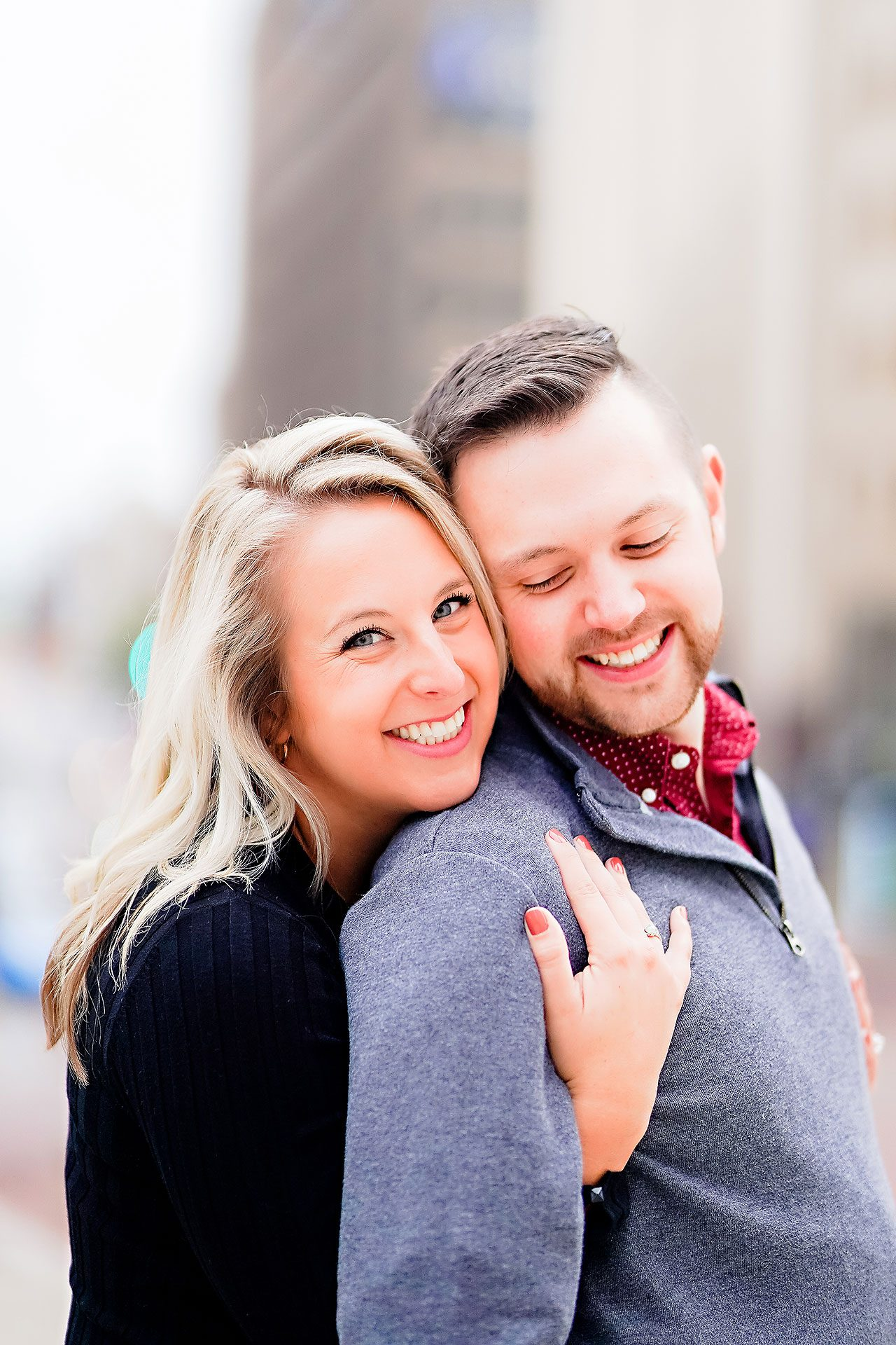 Kristen Jonny Indianapolis Downtown Engagement Session 097