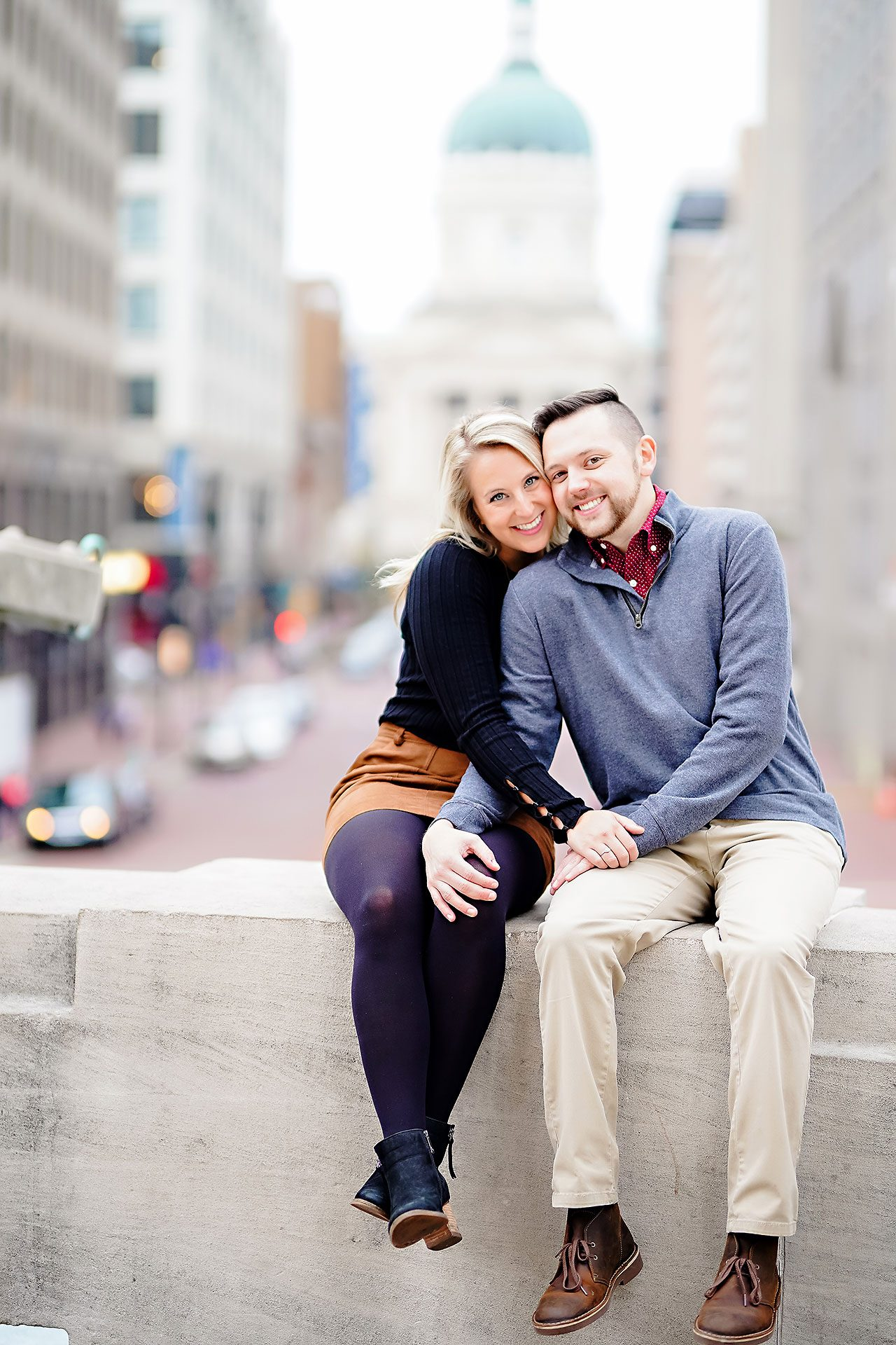 Kristen Jonny Indianapolis Downtown Engagement Session 098