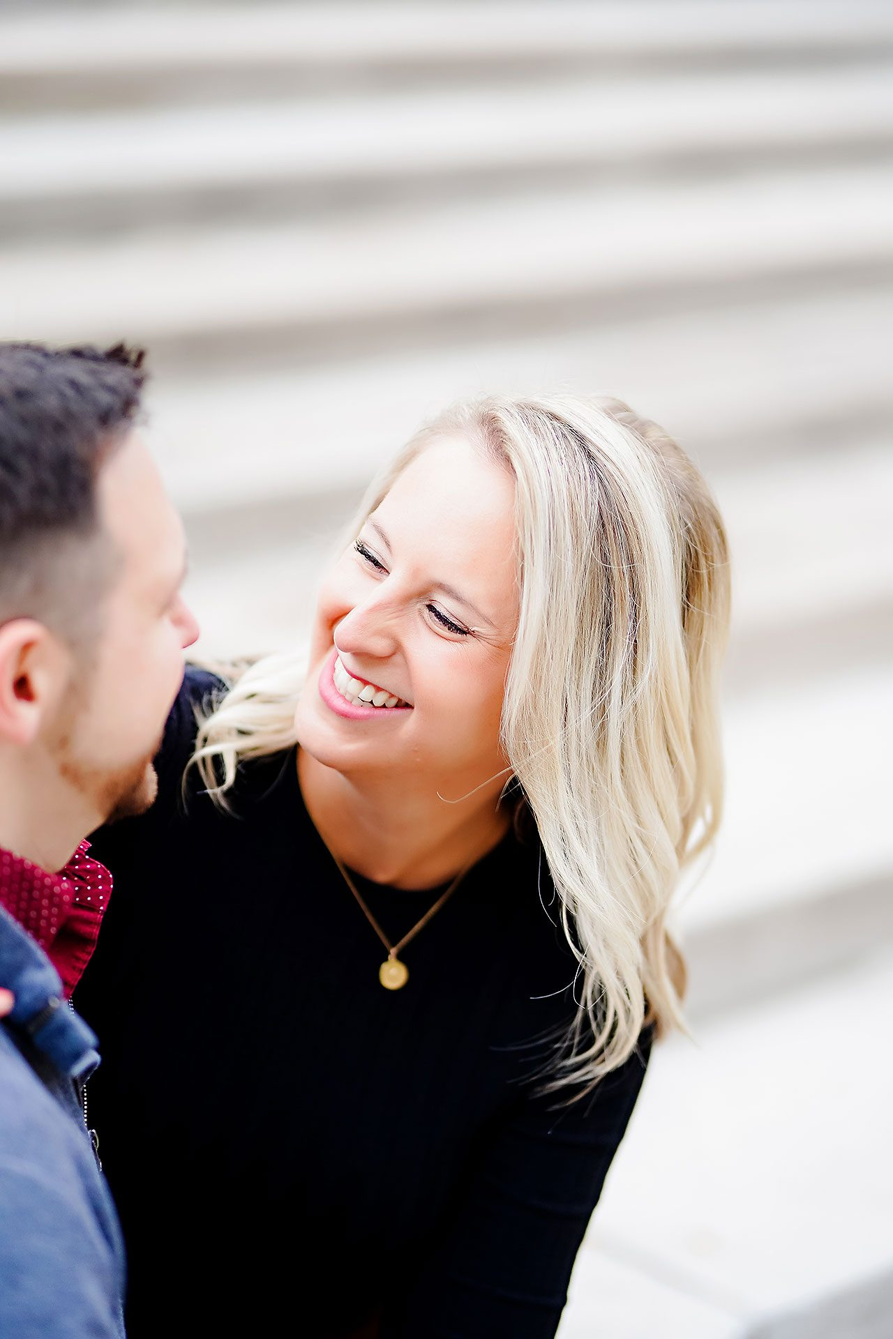 Kristen Jonny Indianapolis Downtown Engagement Session 099