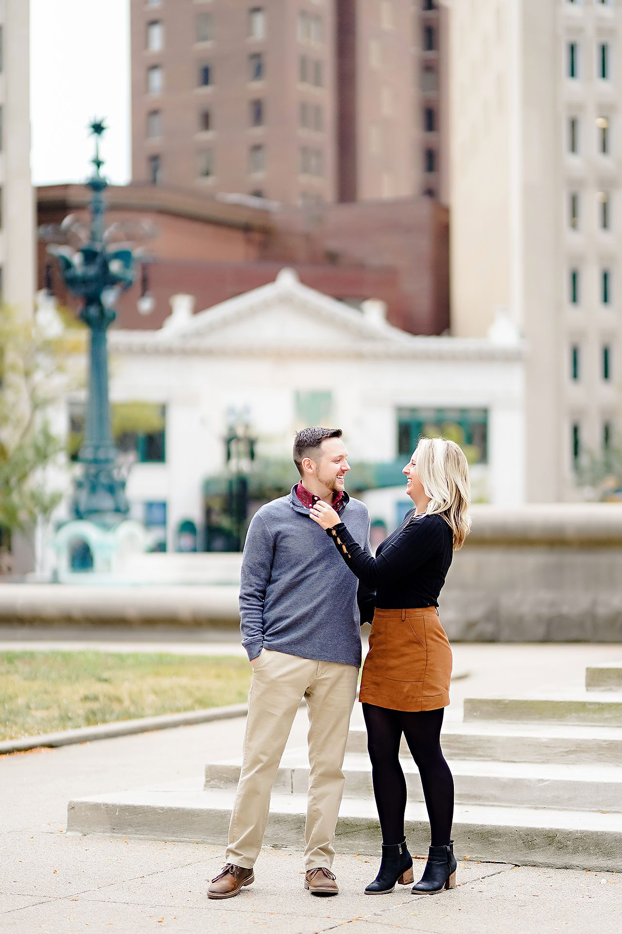 Kristen Jonny Indianapolis Downtown Engagement Session 100
