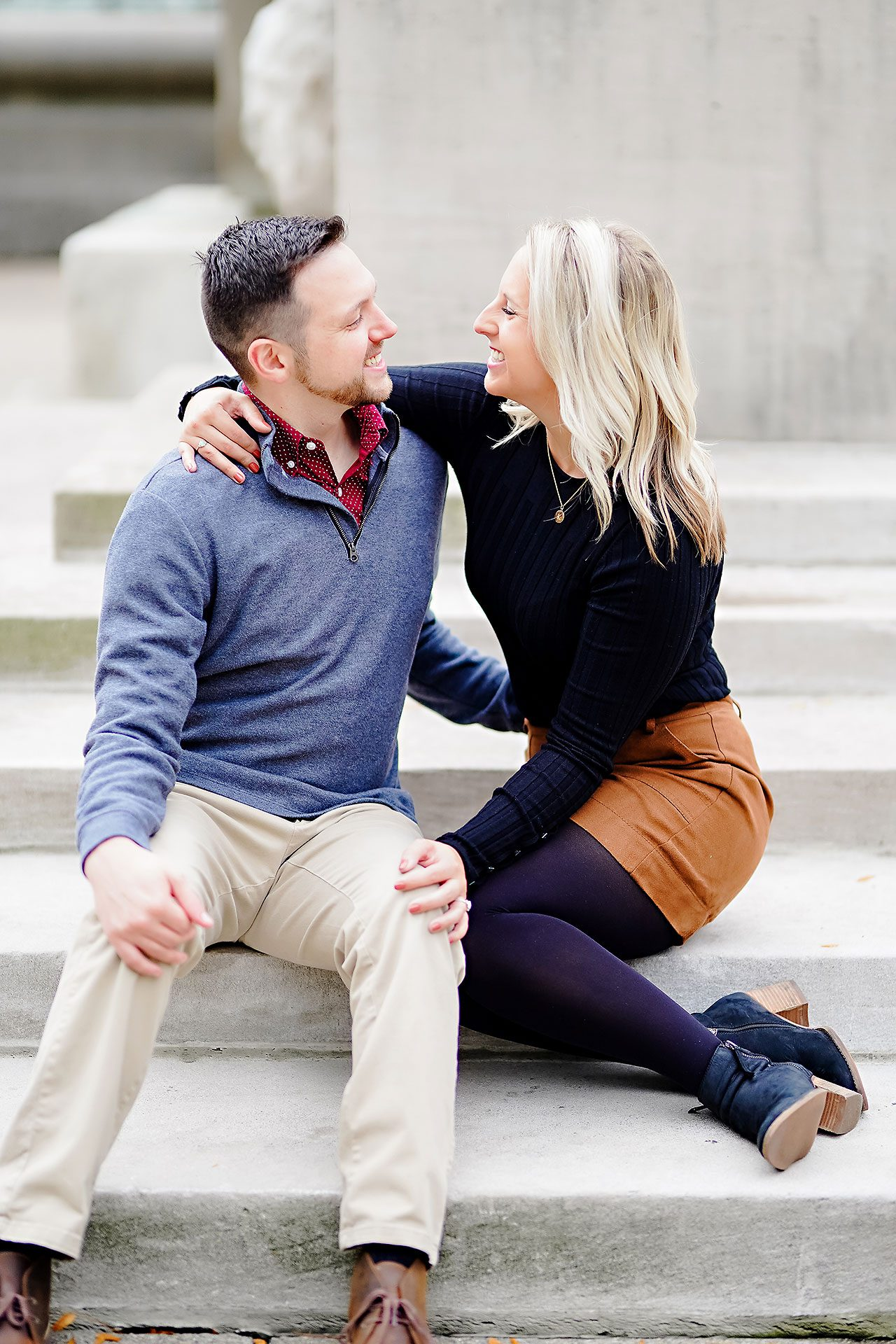 Kristen Jonny Indianapolis Downtown Engagement Session 101