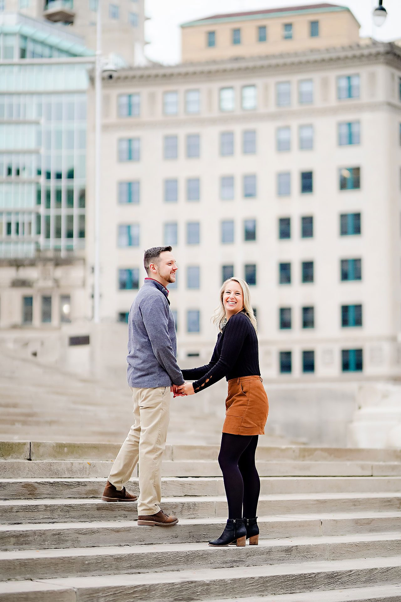 Kristen Jonny Indianapolis Downtown Engagement Session 102