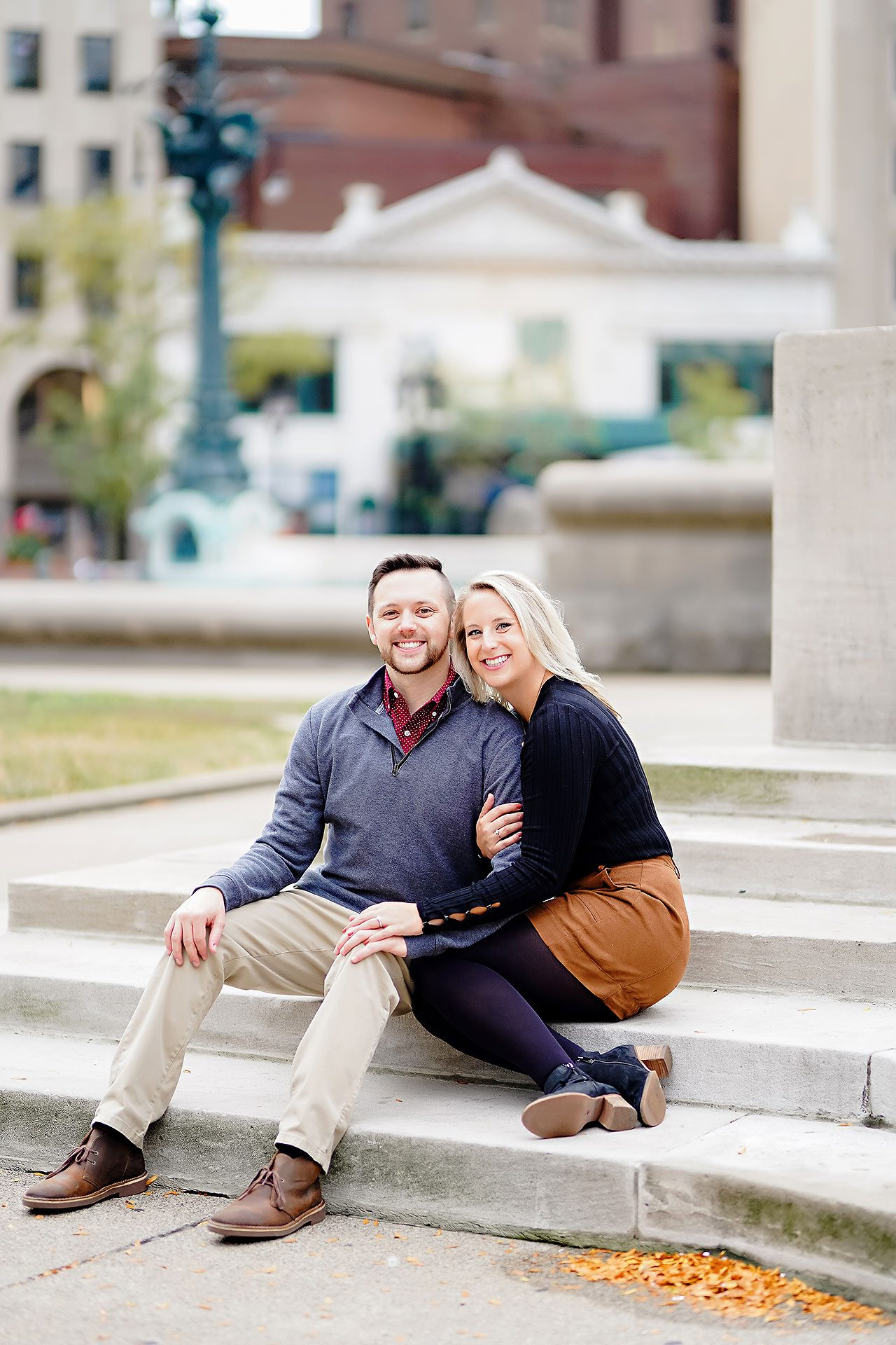 Kristen Jonny Indianapolis Downtown Engagement Session 103
