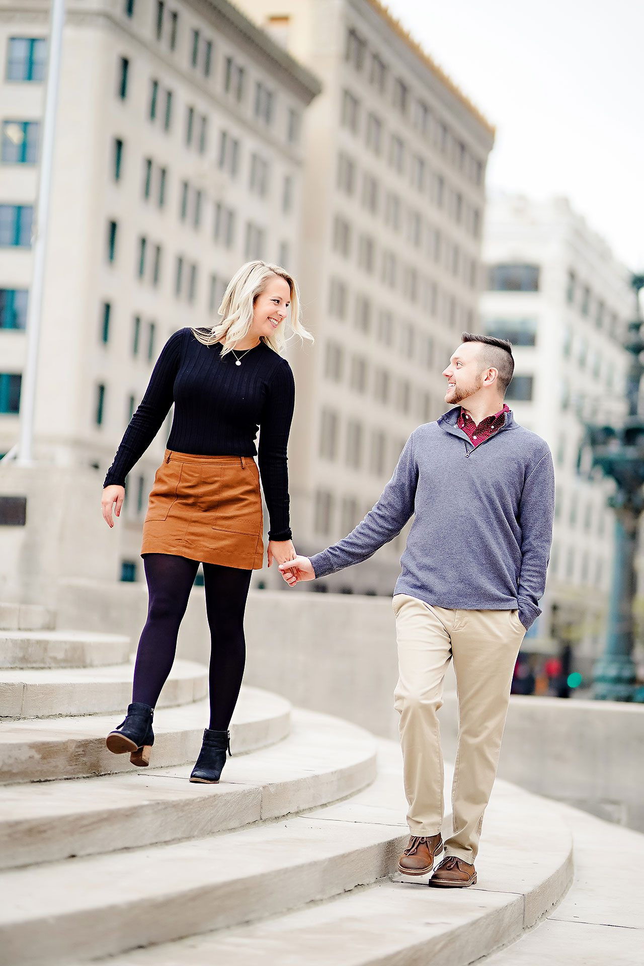 Kristen Jonny Indianapolis Downtown Engagement Session 104