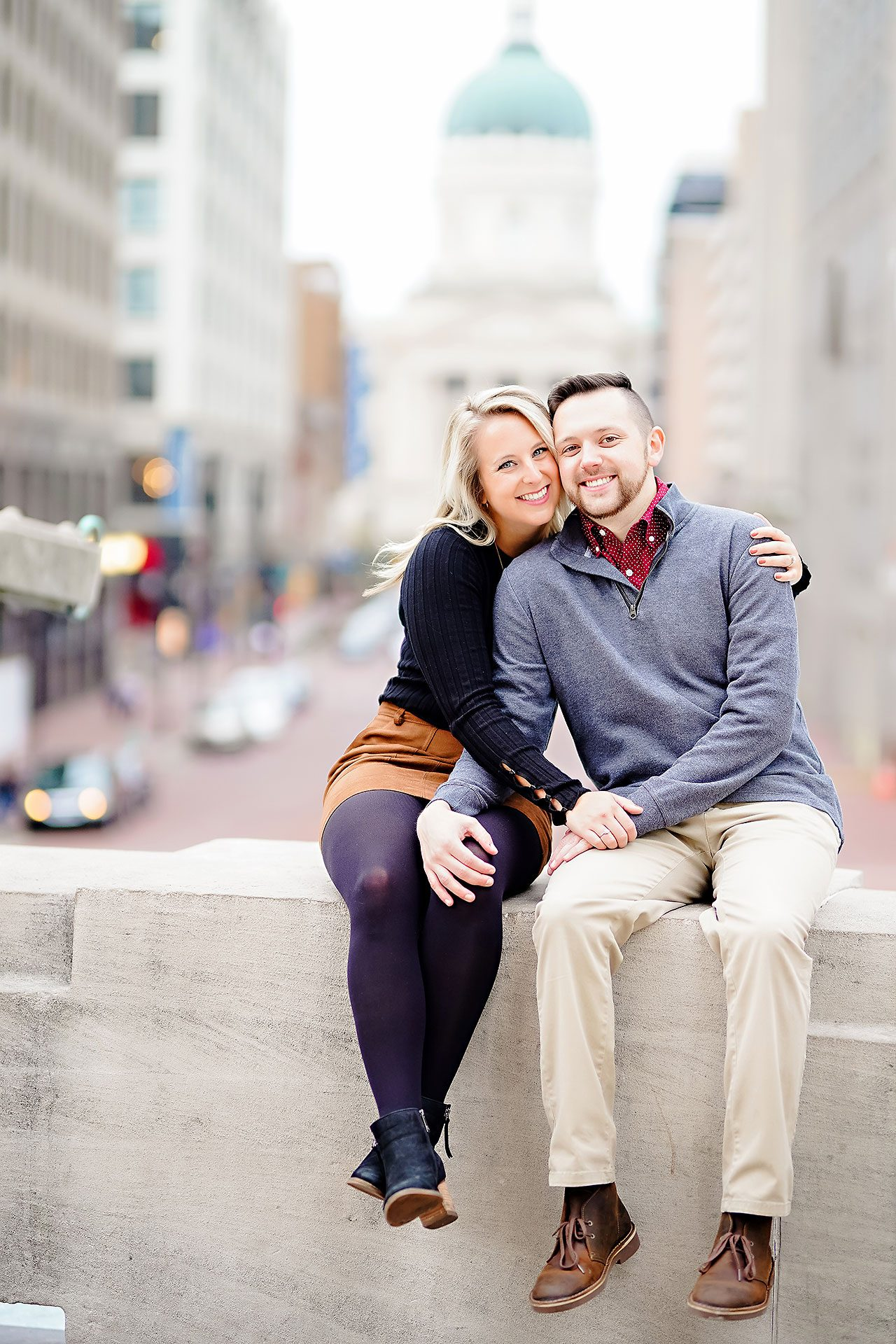 Kristen Jonny Indianapolis Downtown Engagement Session 106