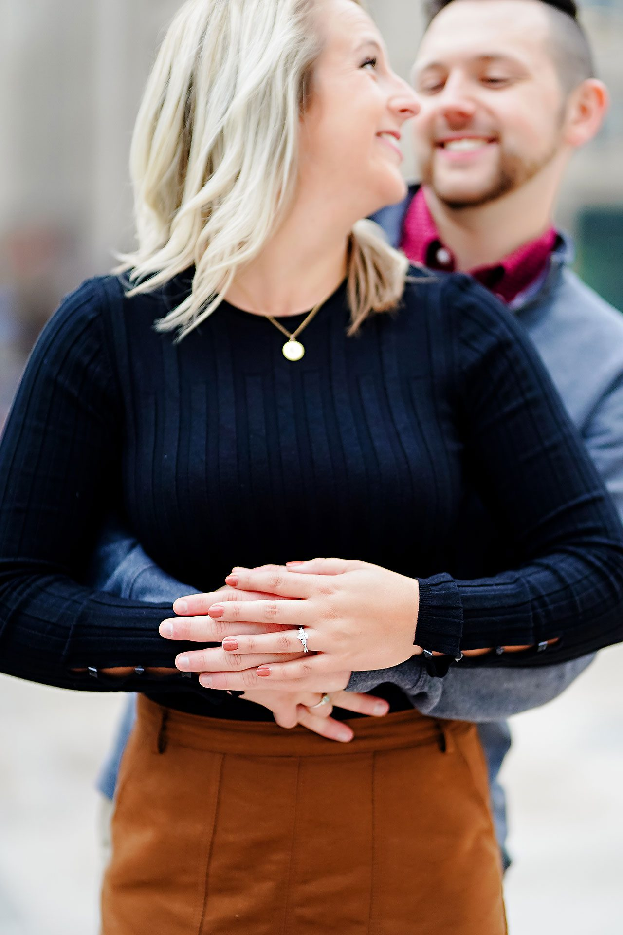 Kristen Jonny Indianapolis Downtown Engagement Session 107