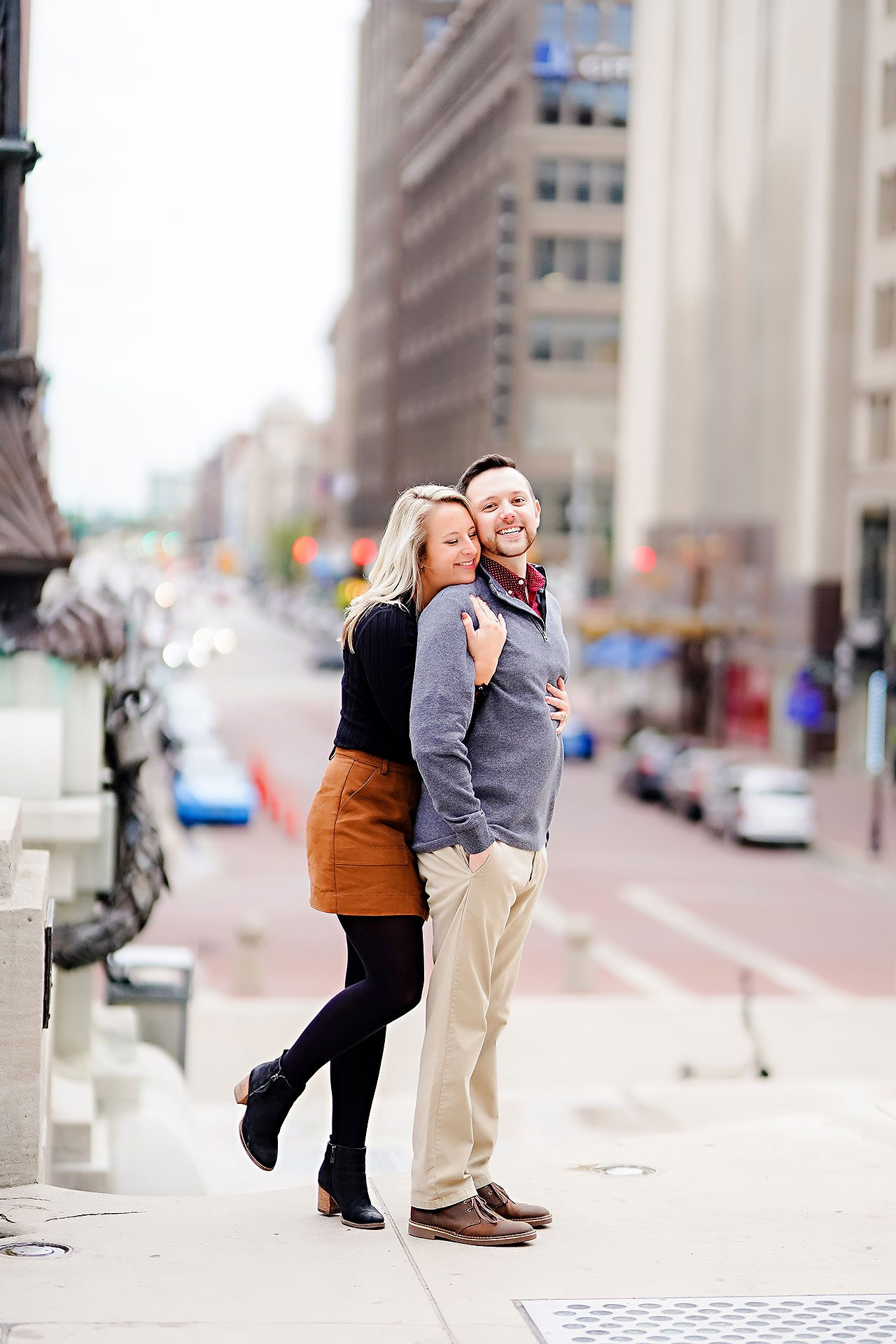 Kristen Jonny Indianapolis Downtown Engagement Session 108