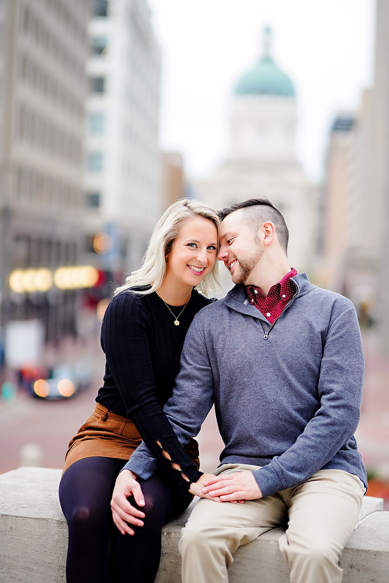 Kristen Jonny Indianapolis Downtown Engagement Session 109