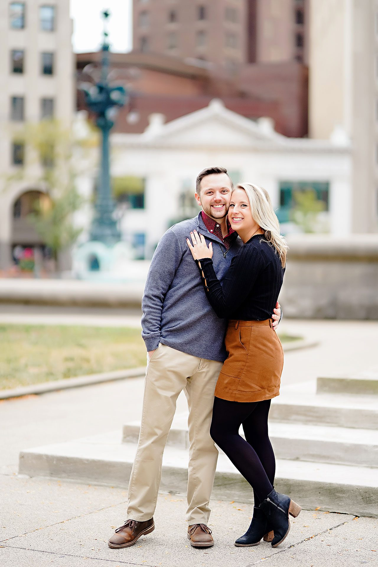 Kristen Jonny Indianapolis Downtown Engagement Session 111