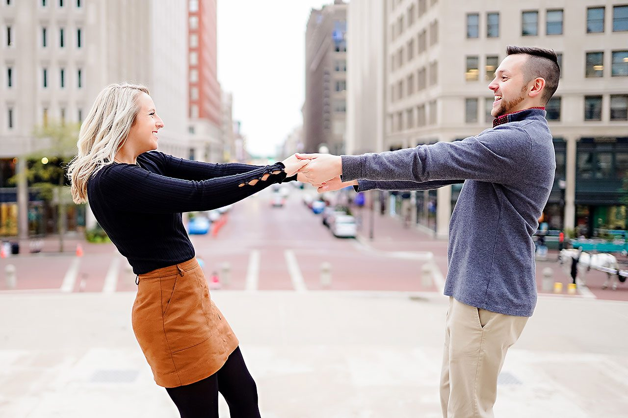 Kristen Jonny Indianapolis Downtown Engagement Session 112