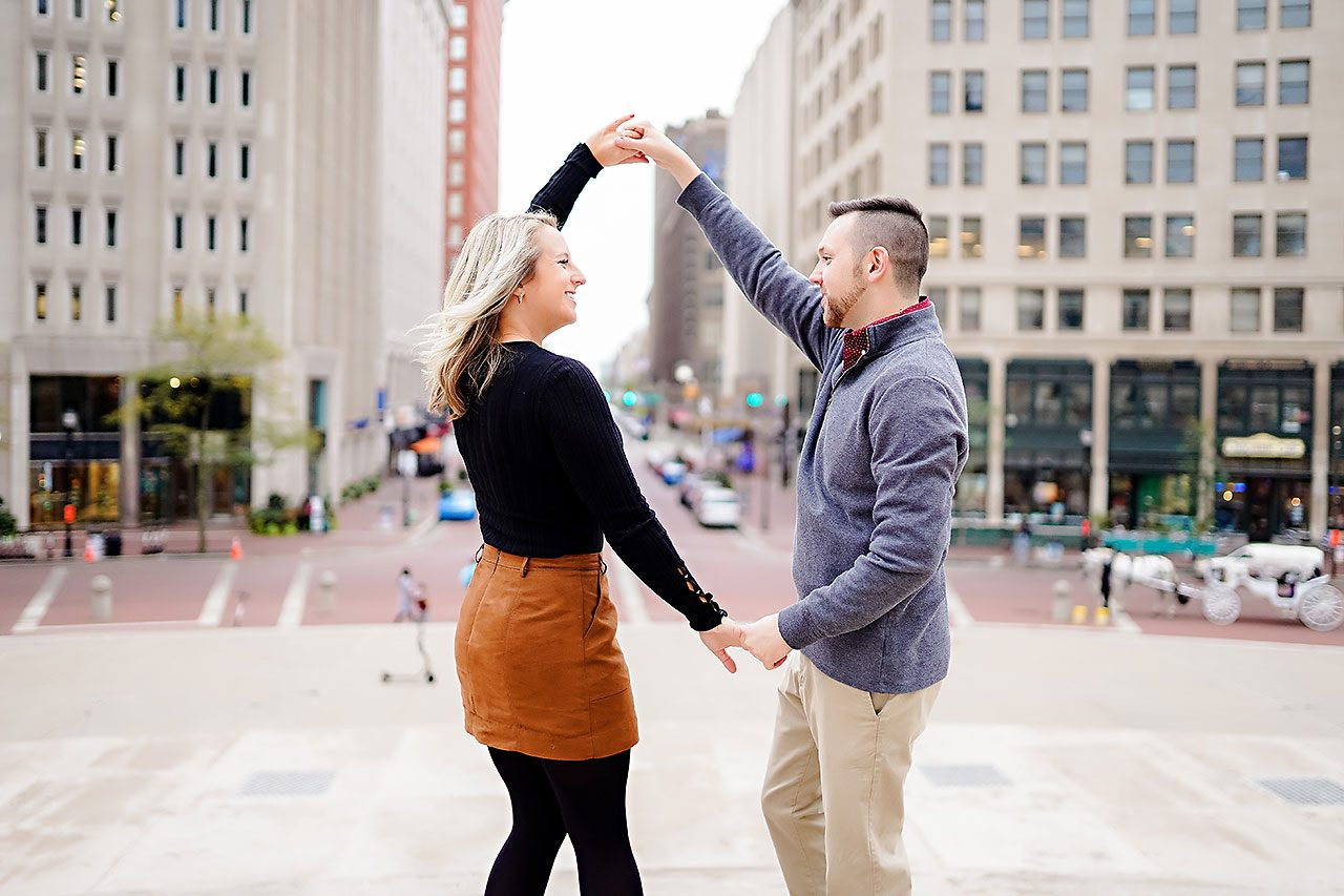 Kristen Jonny Indianapolis Downtown Engagement Session 113