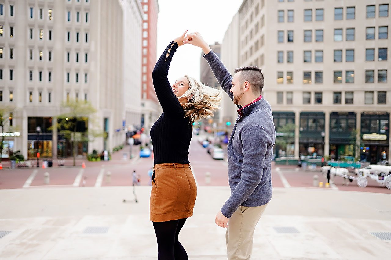 Kristen Jonny Indianapolis Downtown Engagement Session 114