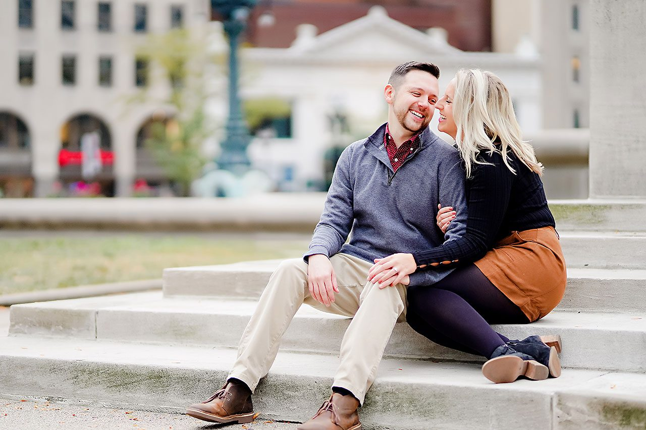 Kristen Jonny Indianapolis Downtown Engagement Session 116