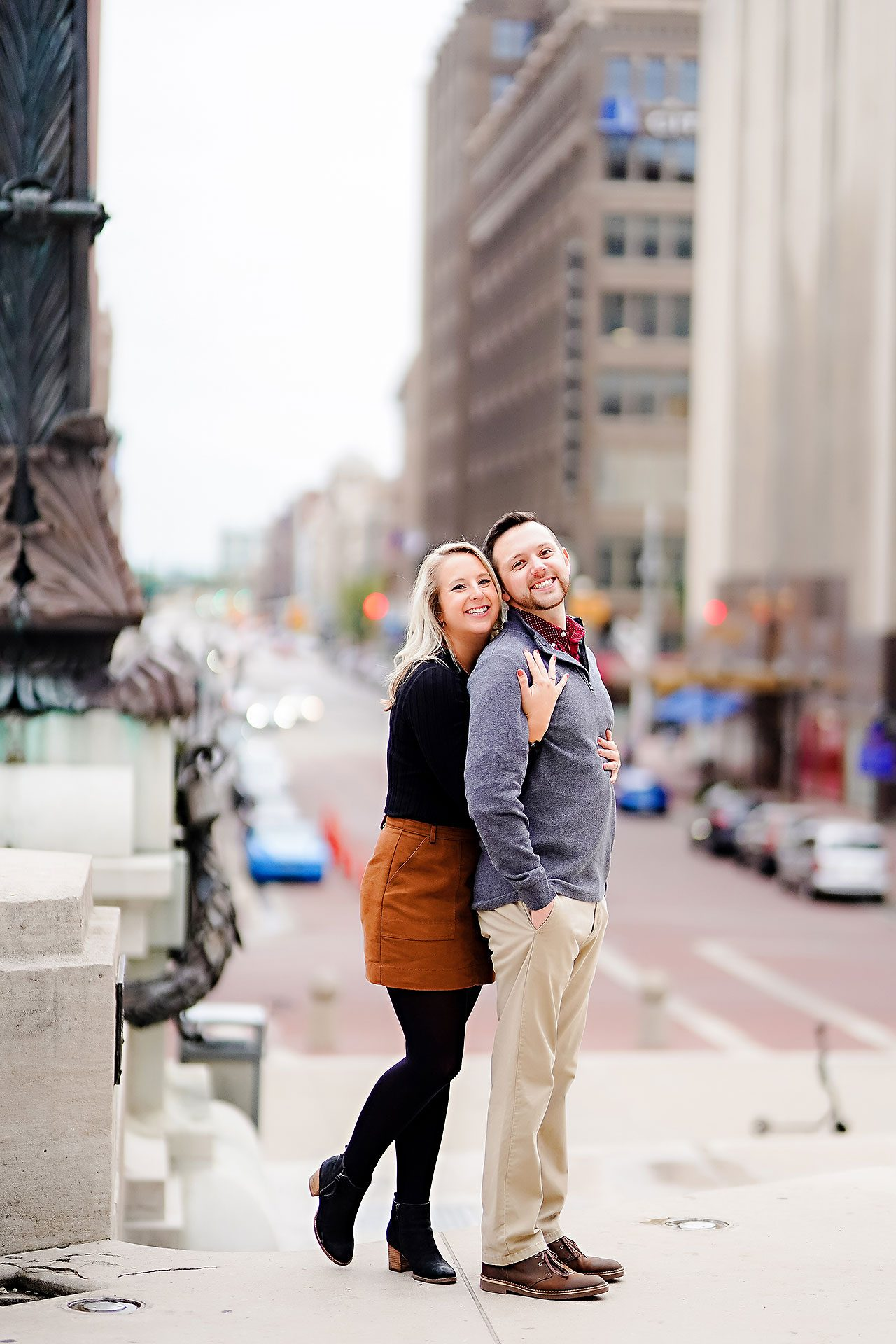 Kristen Jonny Indianapolis Downtown Engagement Session 119