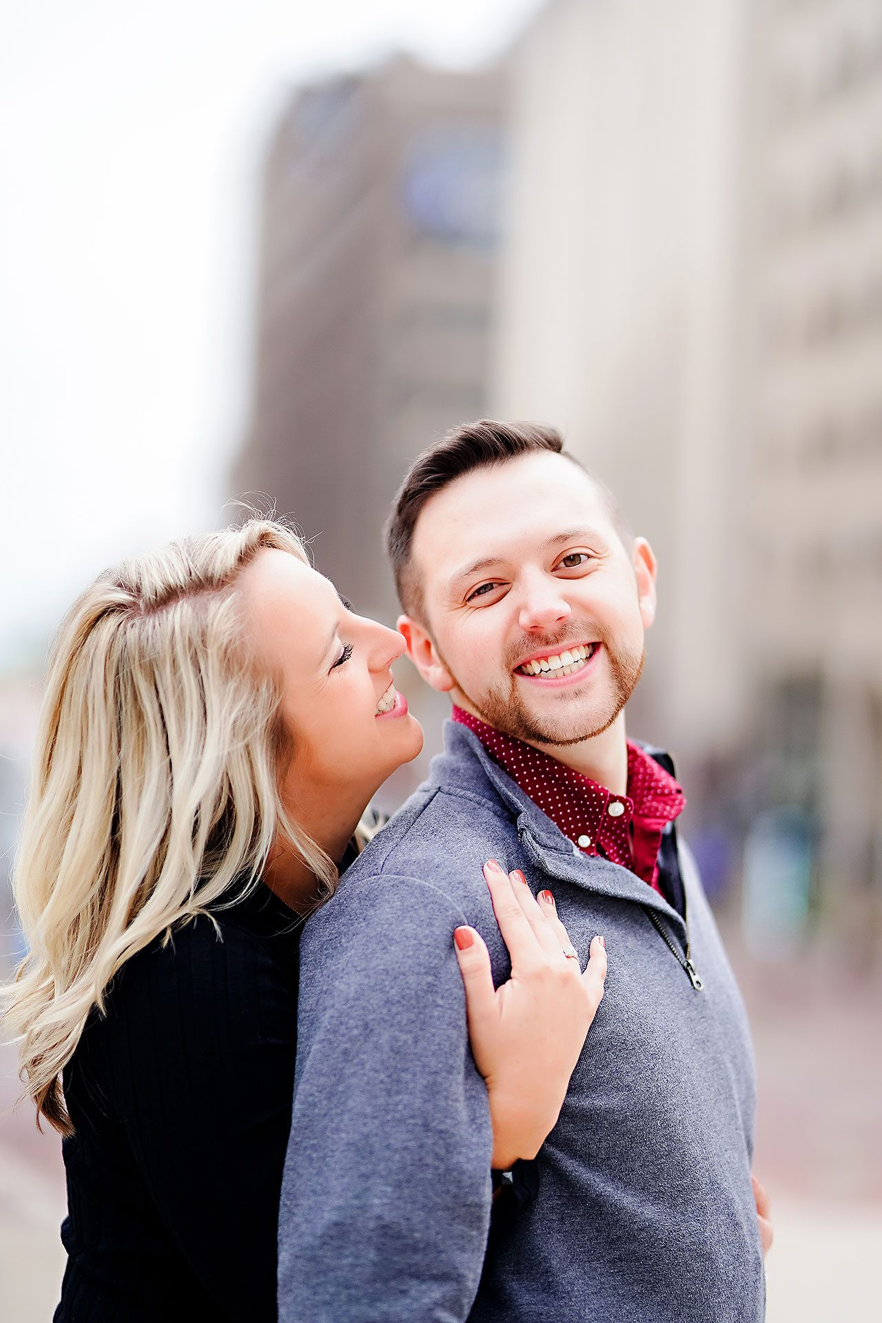 Kristen Jonny Indianapolis Downtown Engagement Session 120
