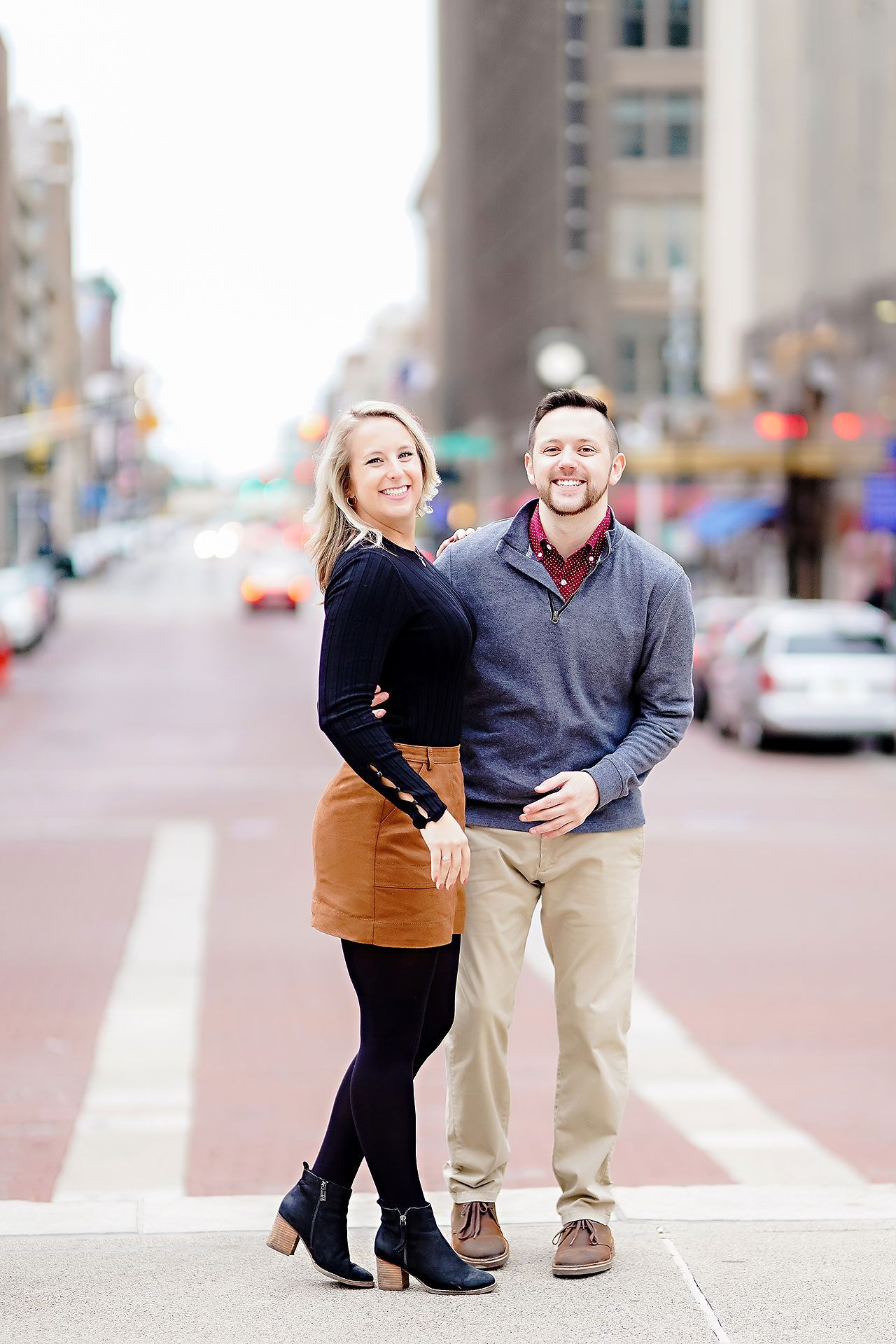 Kristen Jonny Indianapolis Downtown Engagement Session 122
