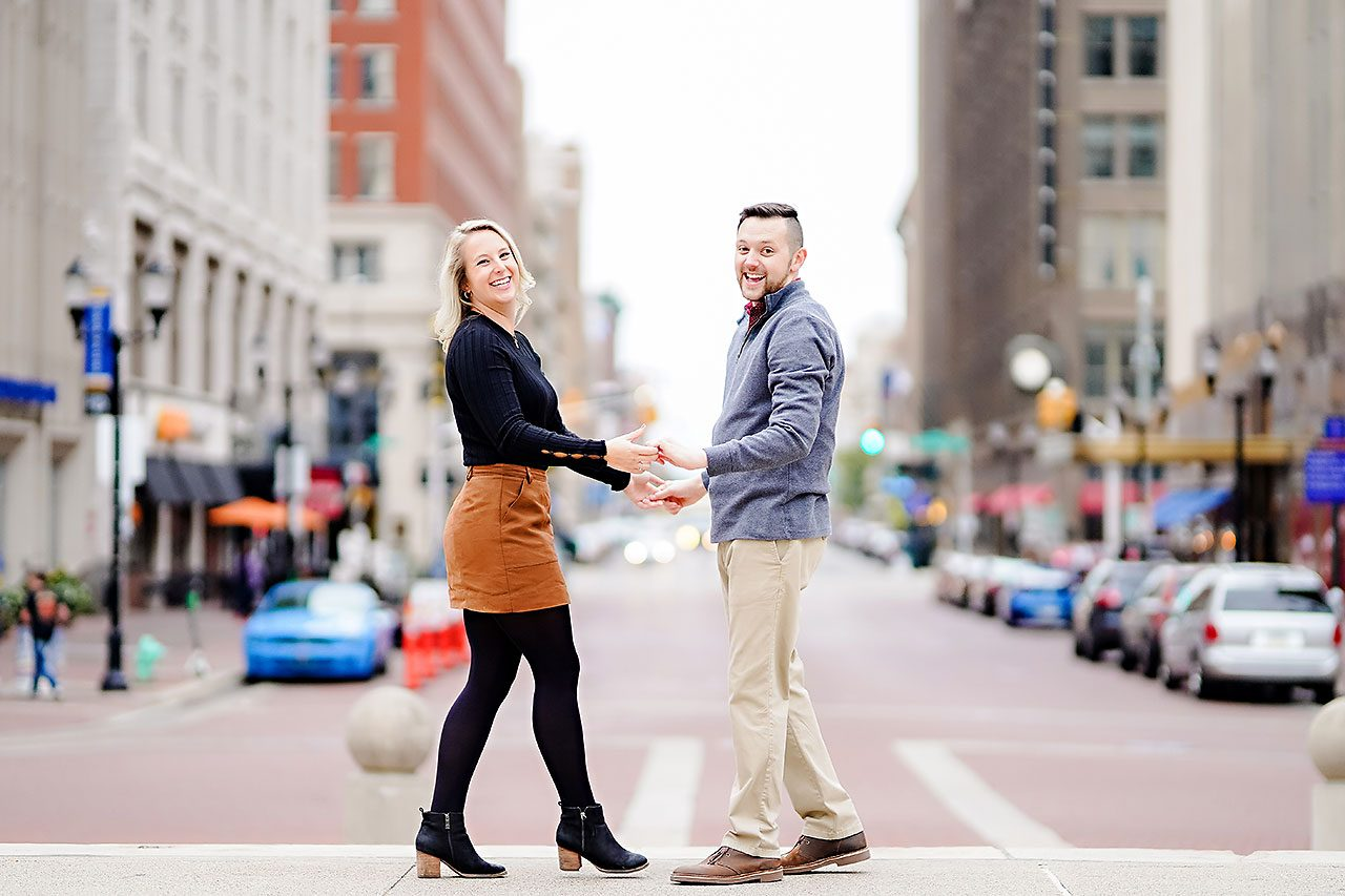 Kristen Jonny Indianapolis Downtown Engagement Session 124