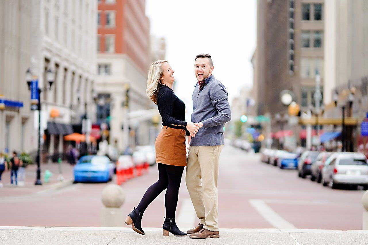 Kristen Jonny Indianapolis Downtown Engagement Session 125
