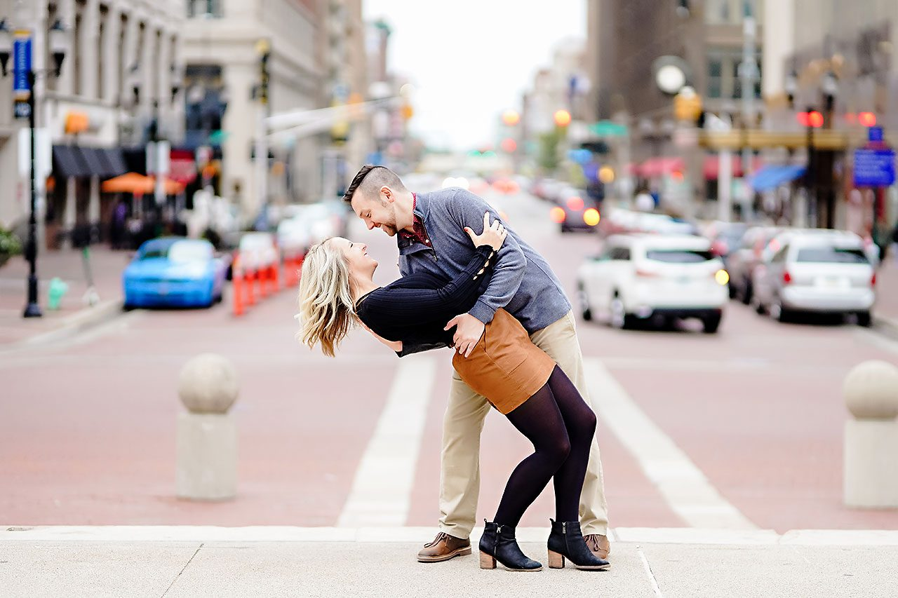 Kristen Jonny Indianapolis Downtown Engagement Session 126