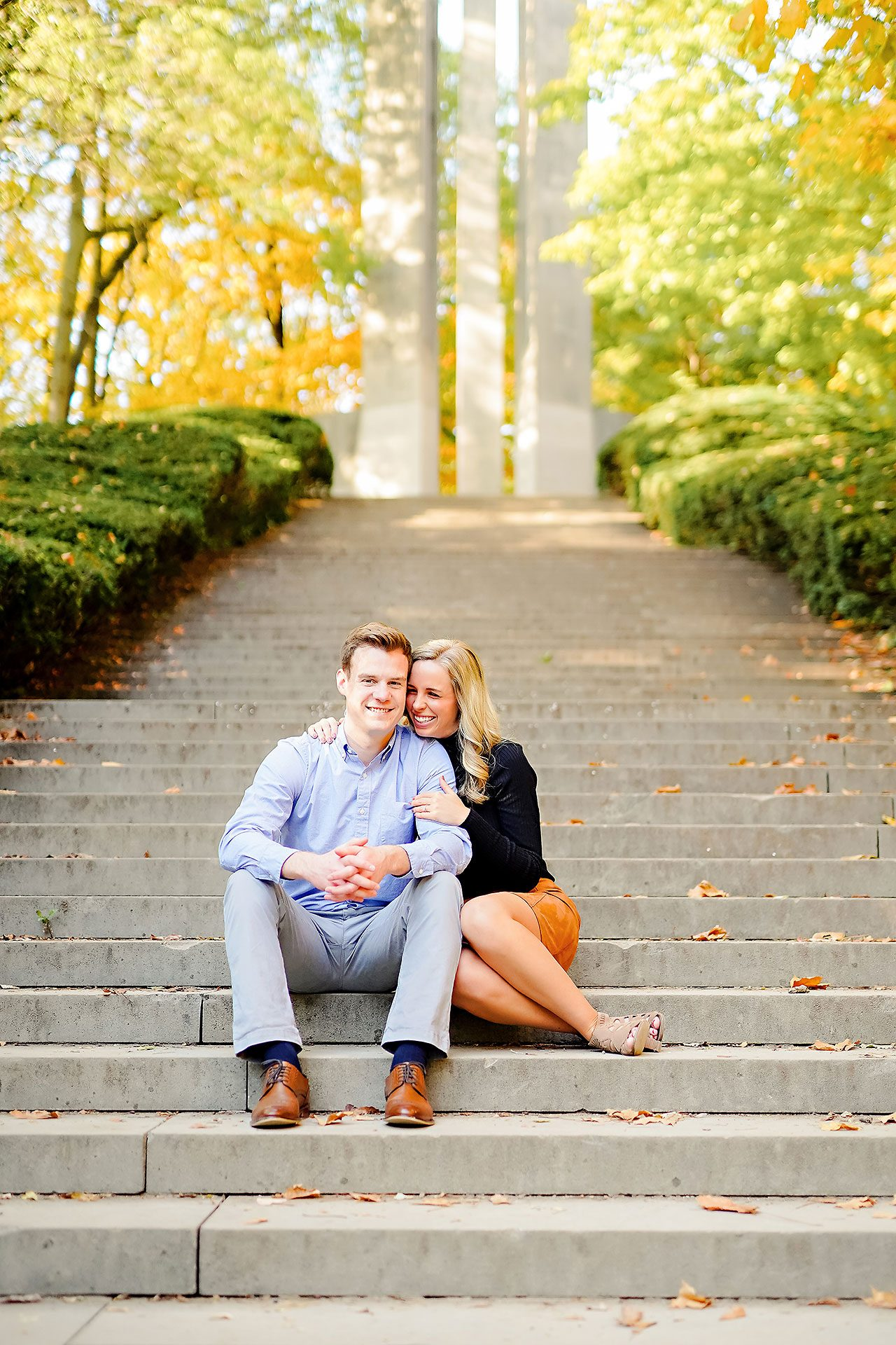 Sarah Evan Indianapolis Butler and Downtown Engagement 007